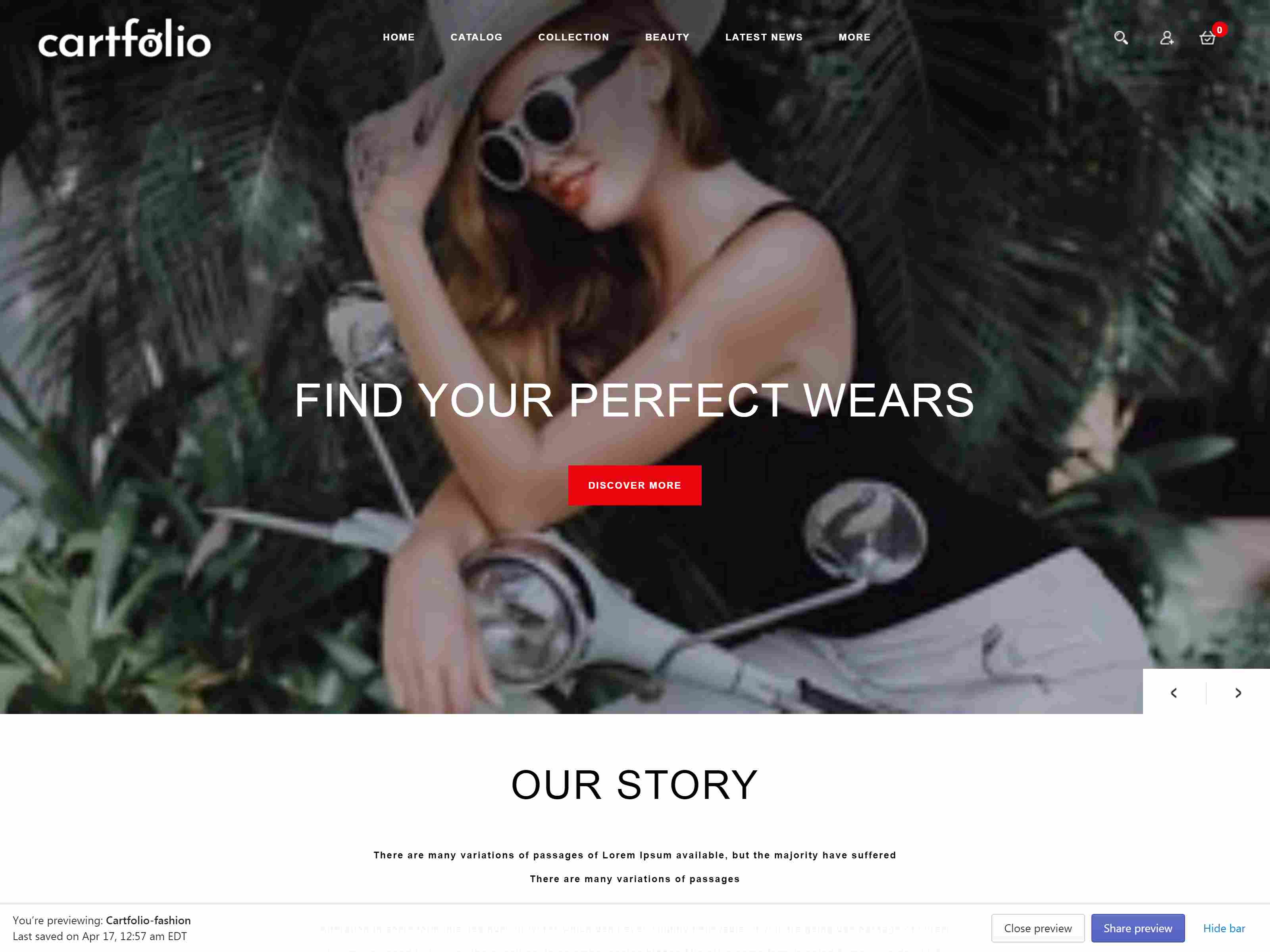 Cartfolio - Sectioned Multipurpose Shopify Theme