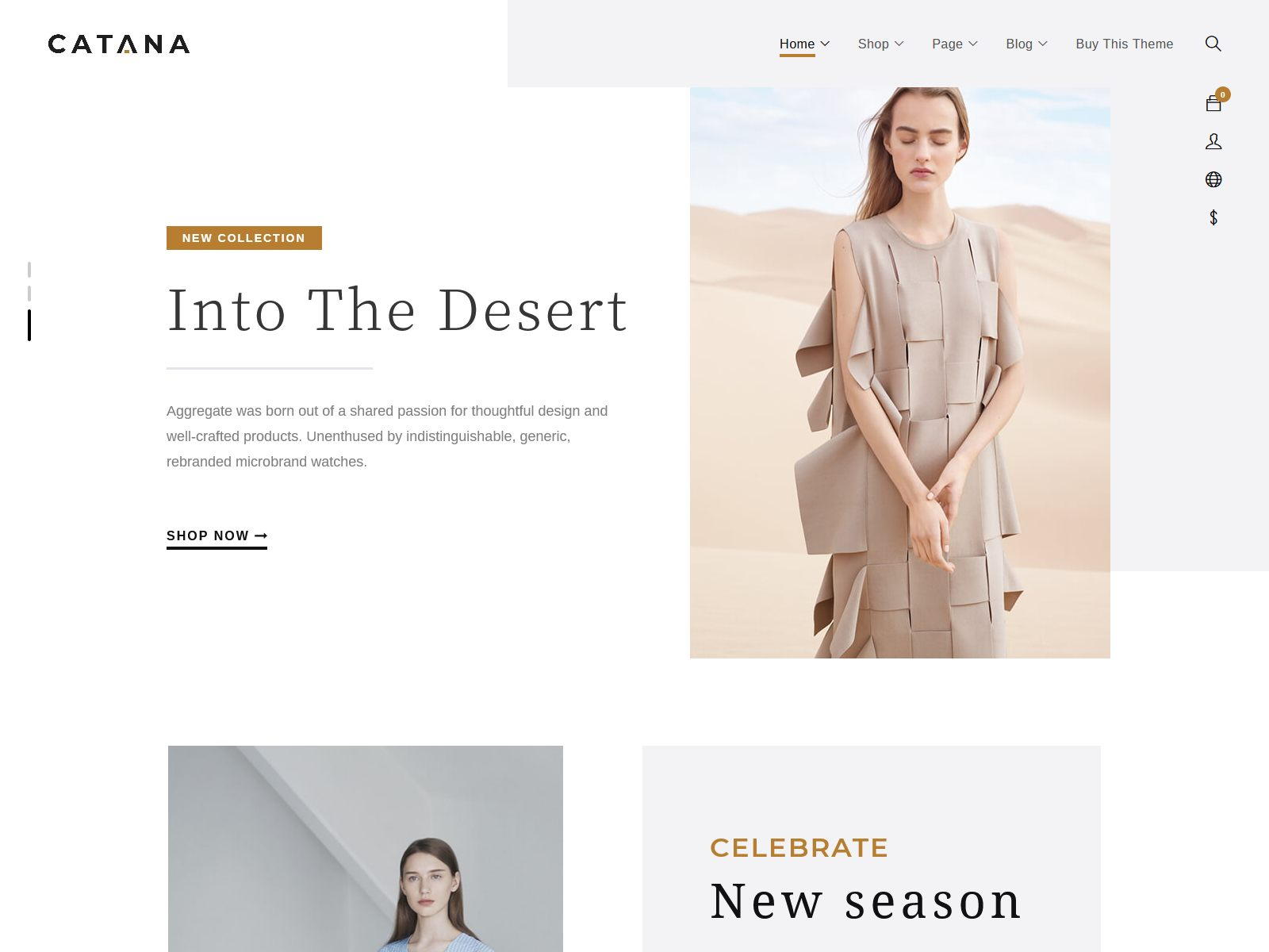 Catana - Fashion & Minimal WooCommerce WordPress Theme fashion wordpress themes