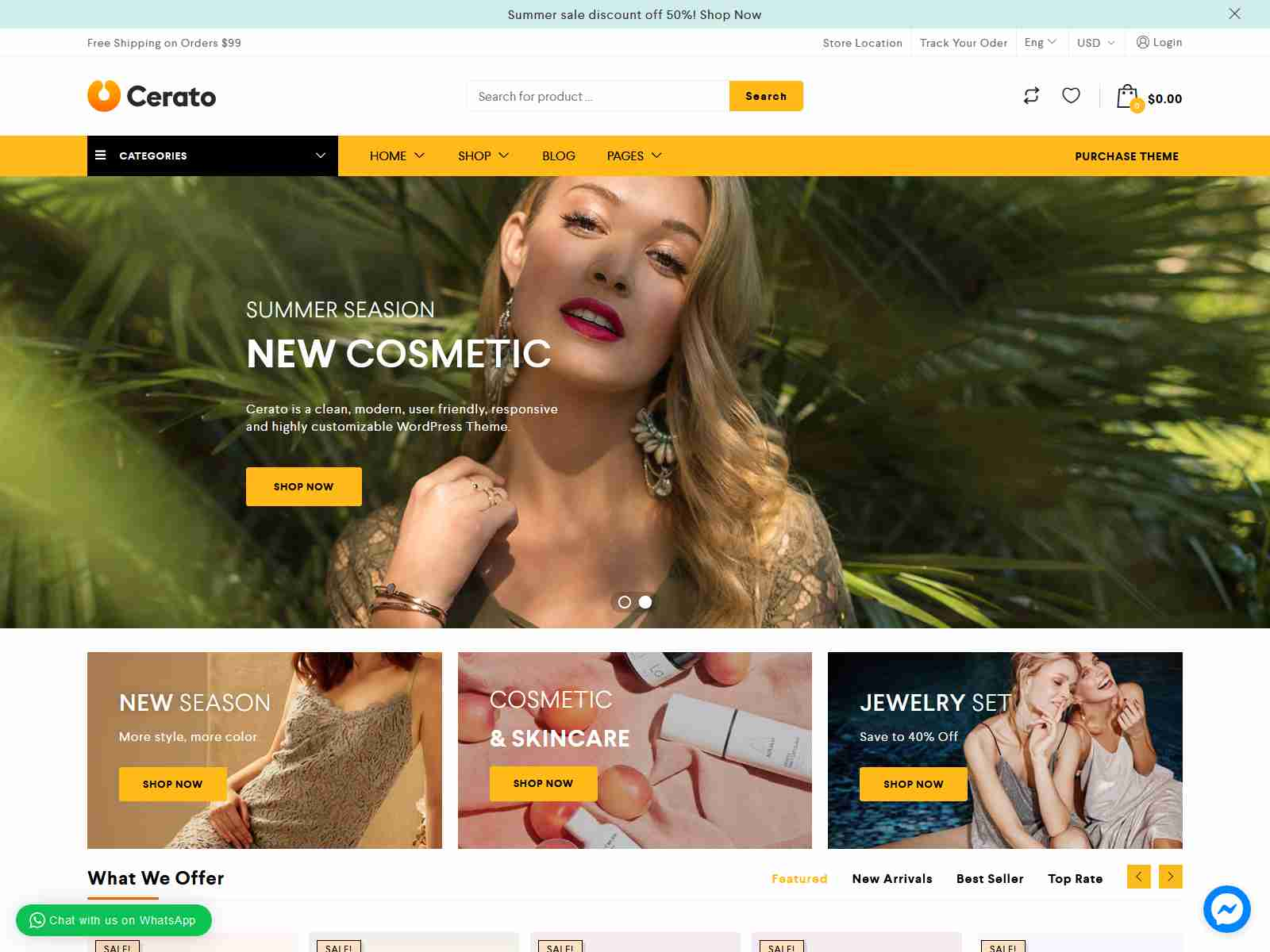 Cerato - Multipurpose Elementor WooCommerce Theme fashion wordpress themes