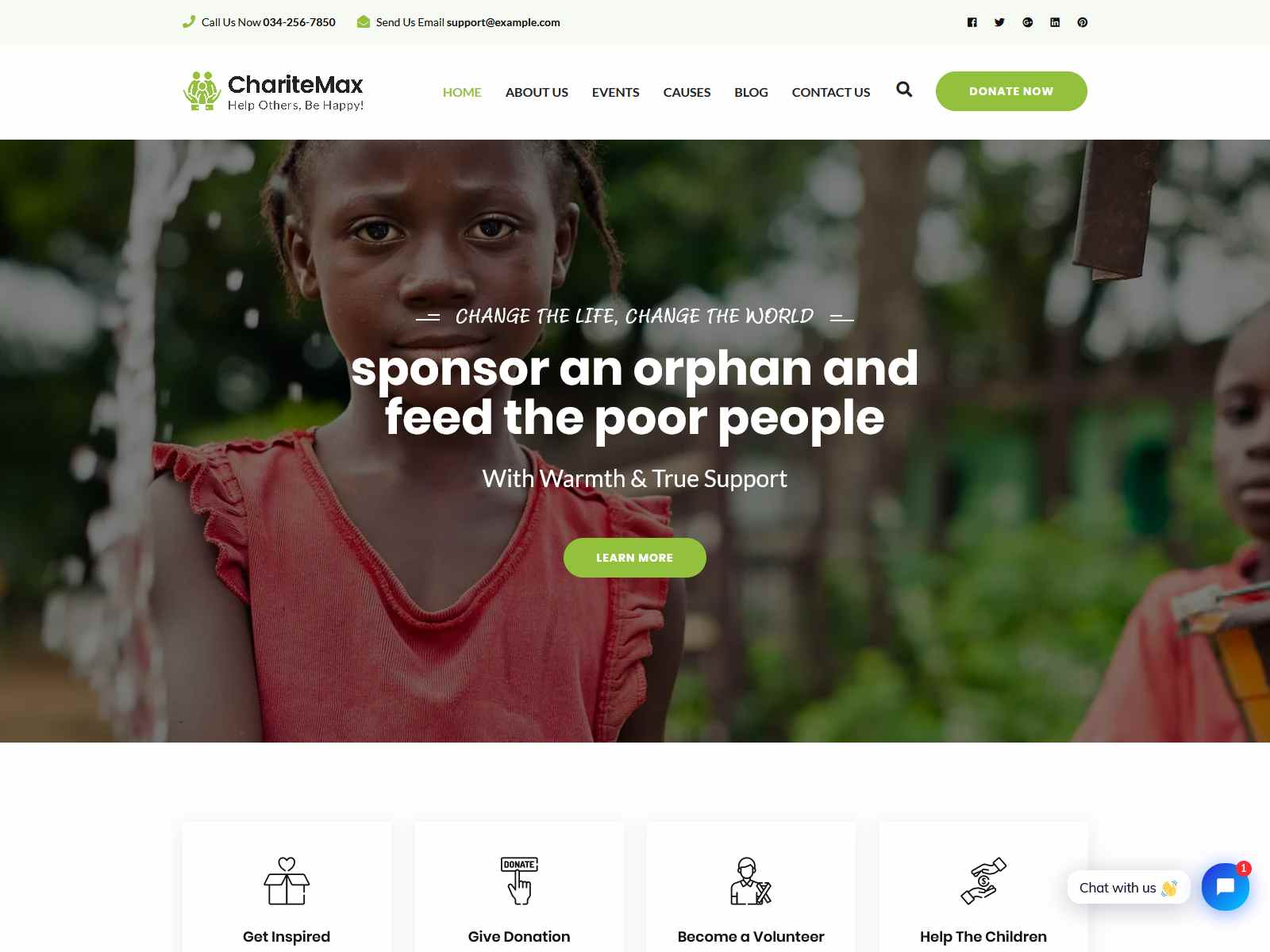 Charitemax - Fundraising WordPress Theme fundraising WordPress theme