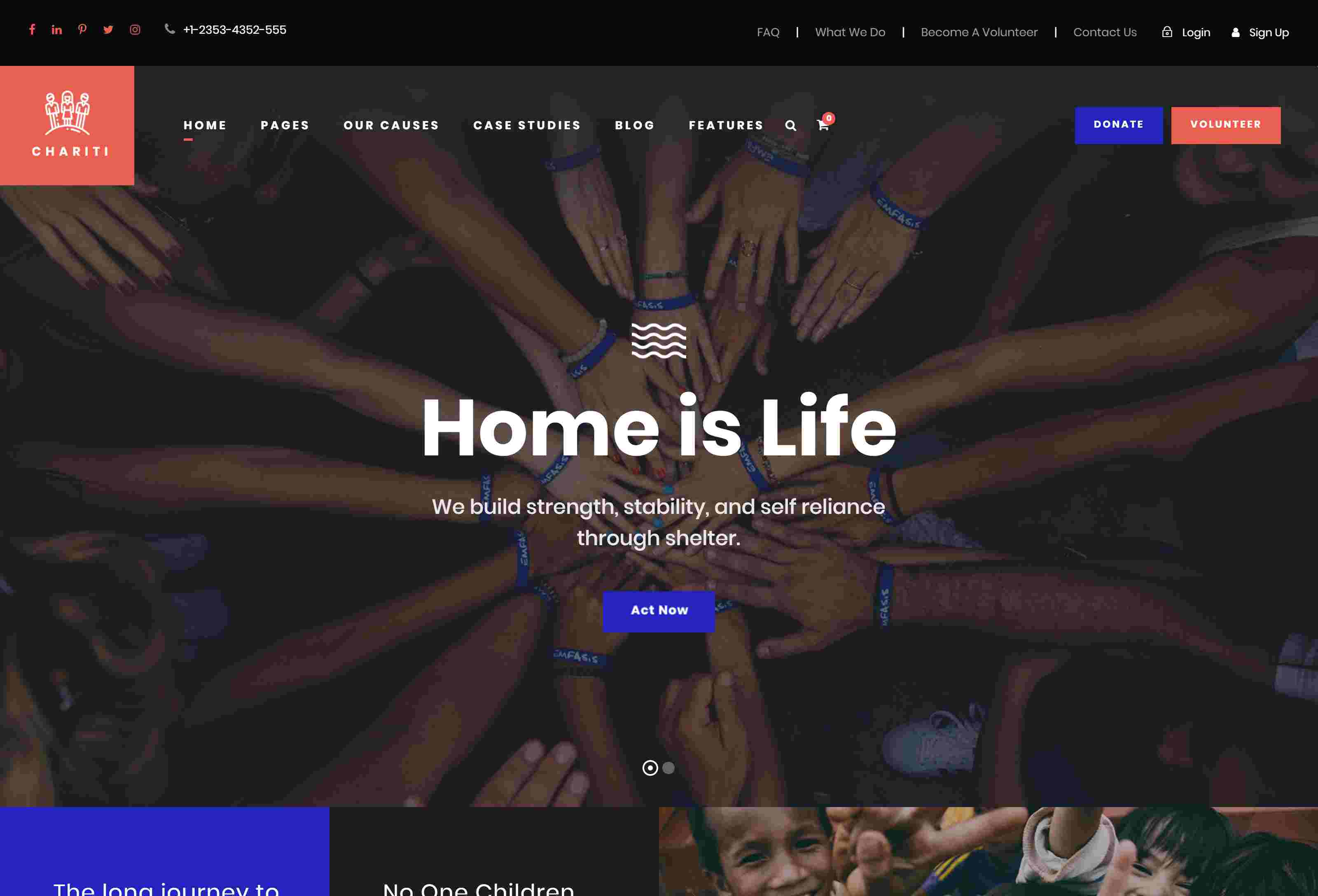 Chariti - Charity & Donation WordPress