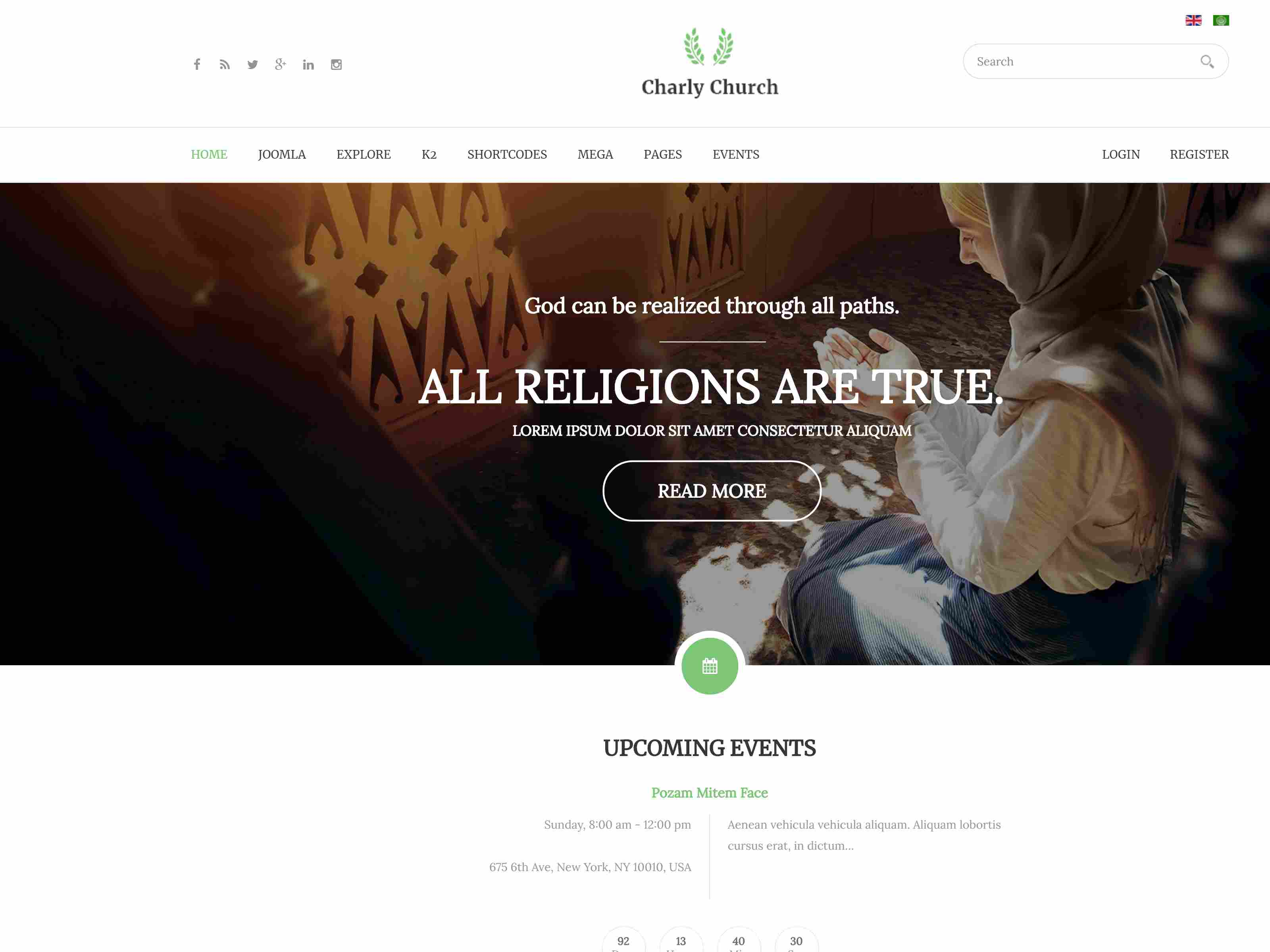 Best Premium Church Joomla Themes