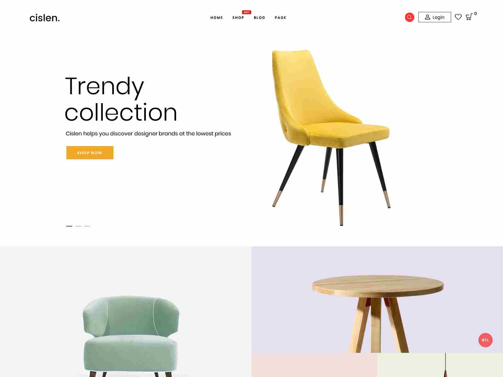 Cislen - Furniture WooCommerce Theme - RTL