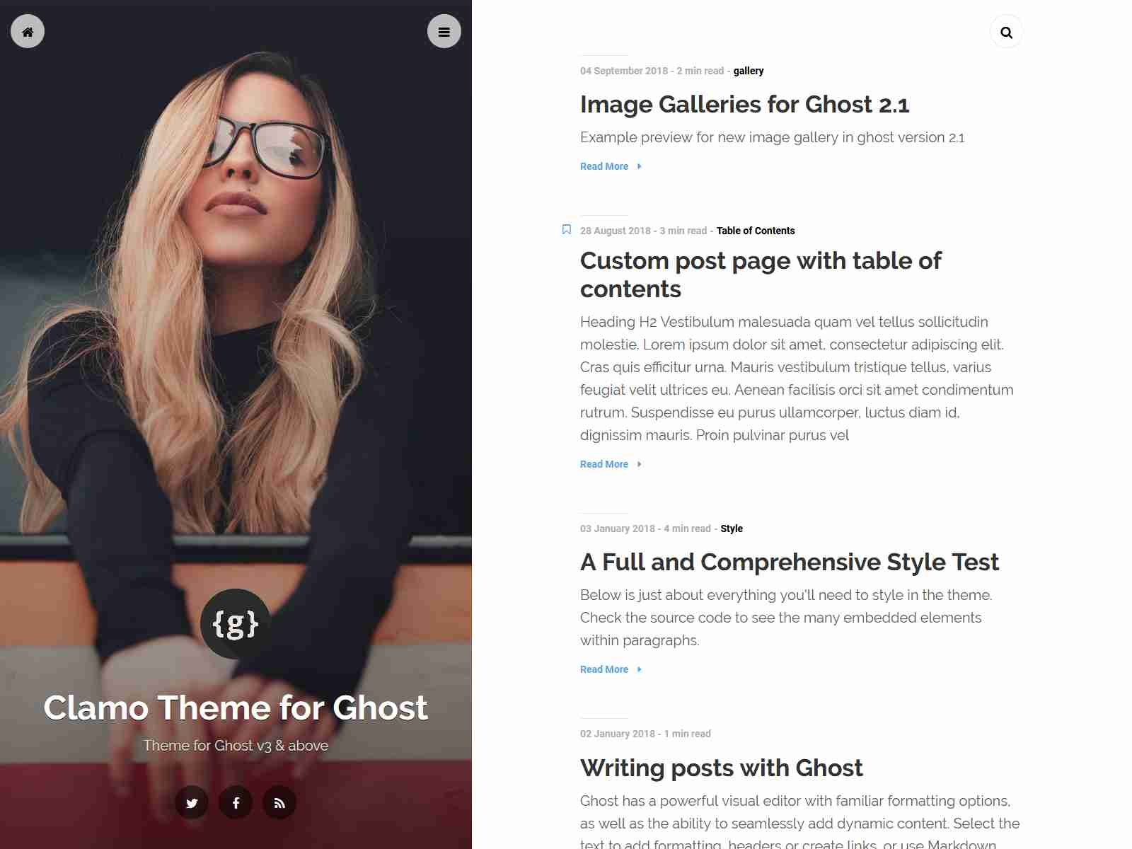 Best Premium Personal Blog Ghost Themes