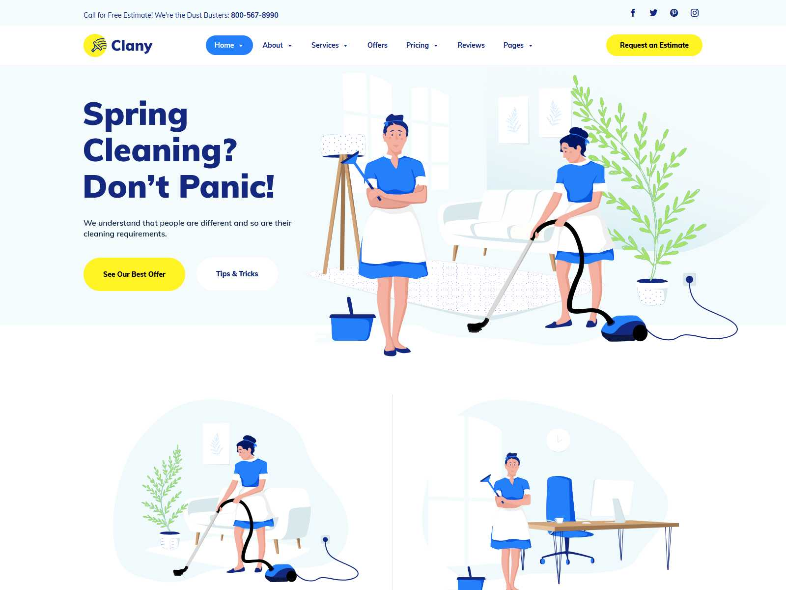 Clany - Cleaning Services WordPress