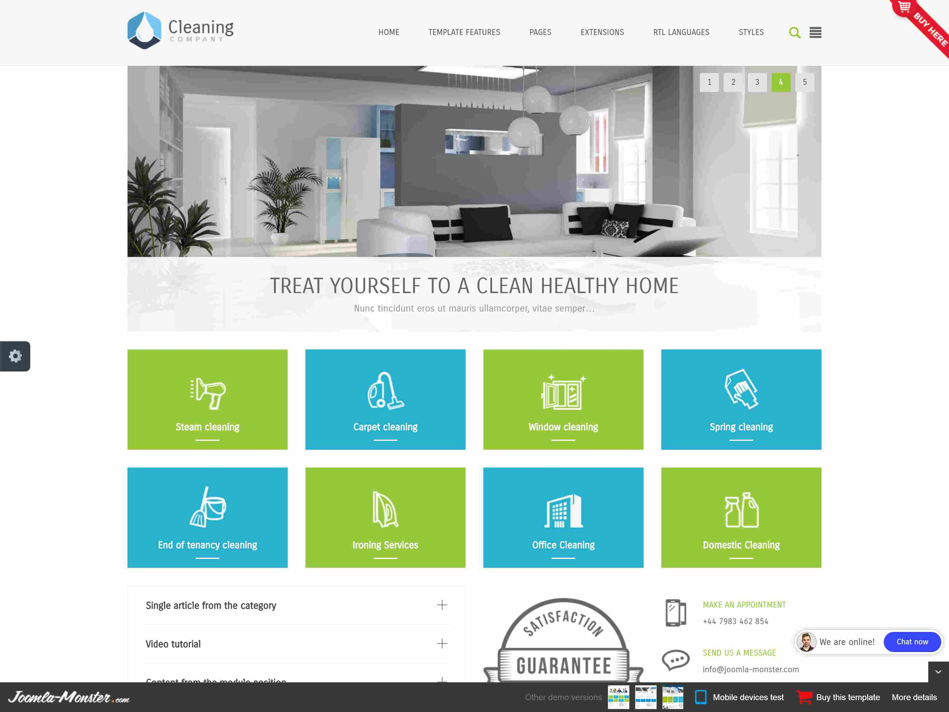 Best Premium Cleaning Joomla Themes