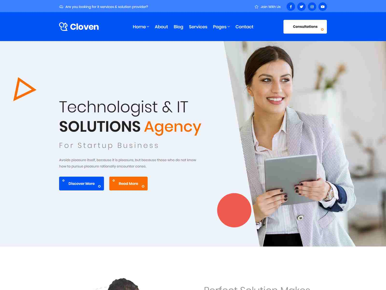 Cloven - Corporate Business & Blogging Jekyll Template