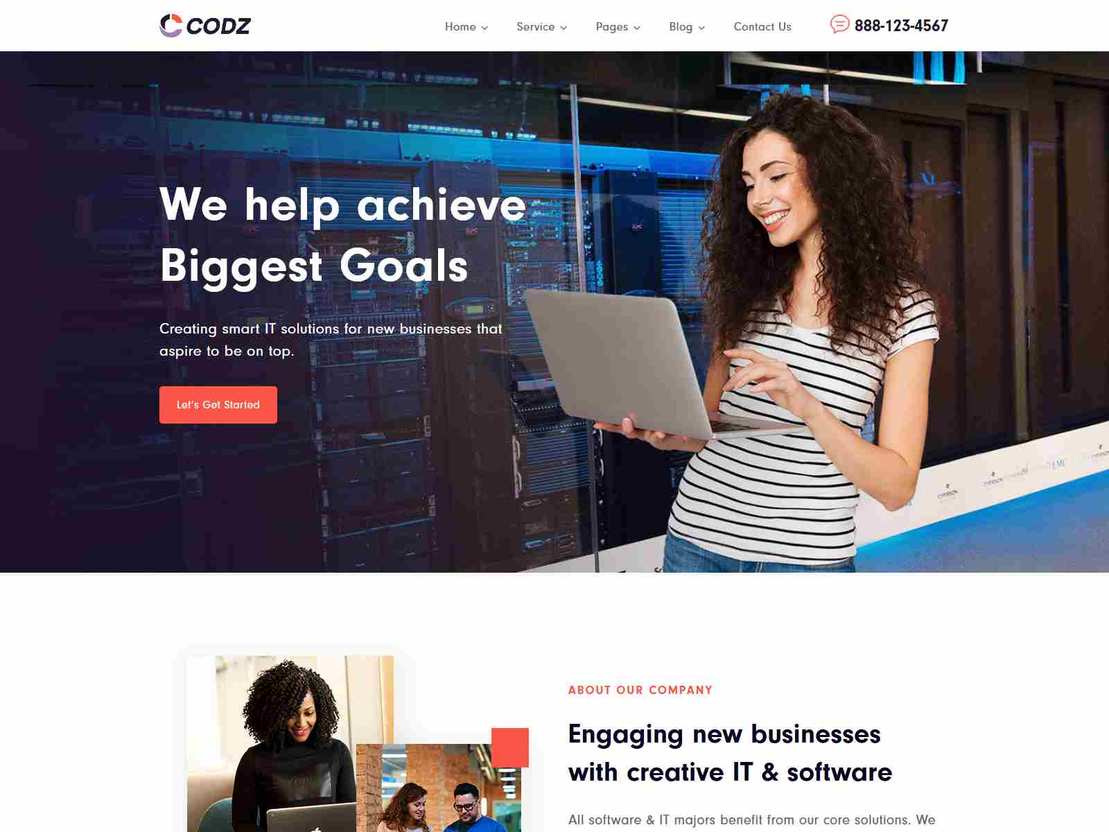 Codz - Software & IT Services Theme Startup WordPress Themes