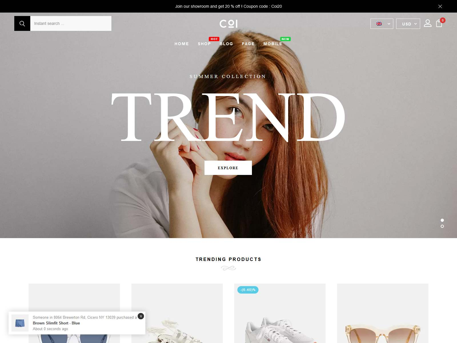 Coi - Fashion WooCommerce Theme