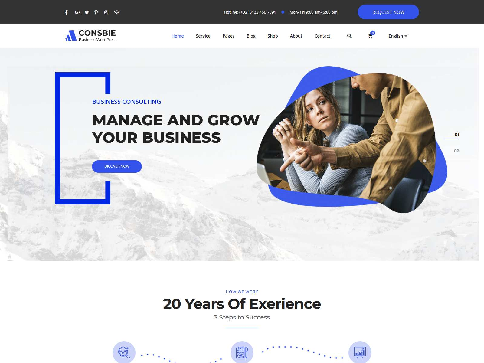 Consbie - Business & Consulting Elementor WordPress Theme