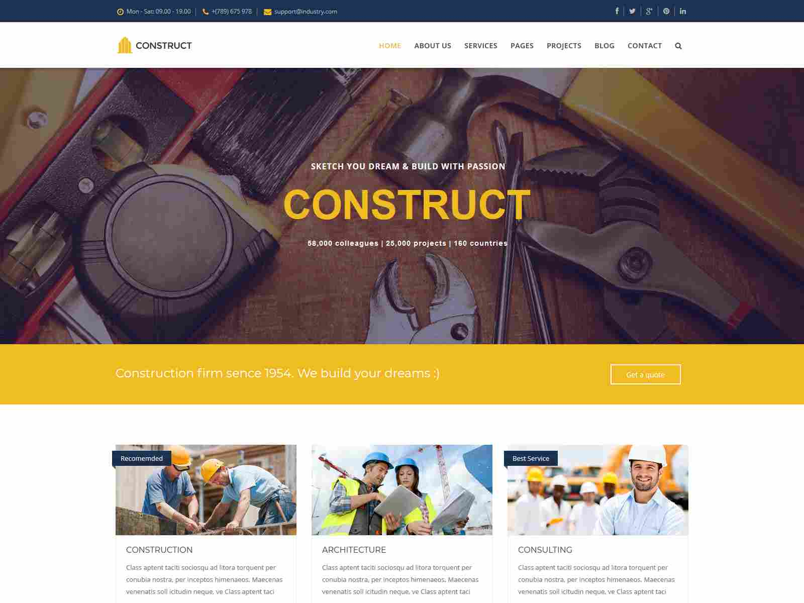 Construct - Joomla Construction & Business Template joomla construction template