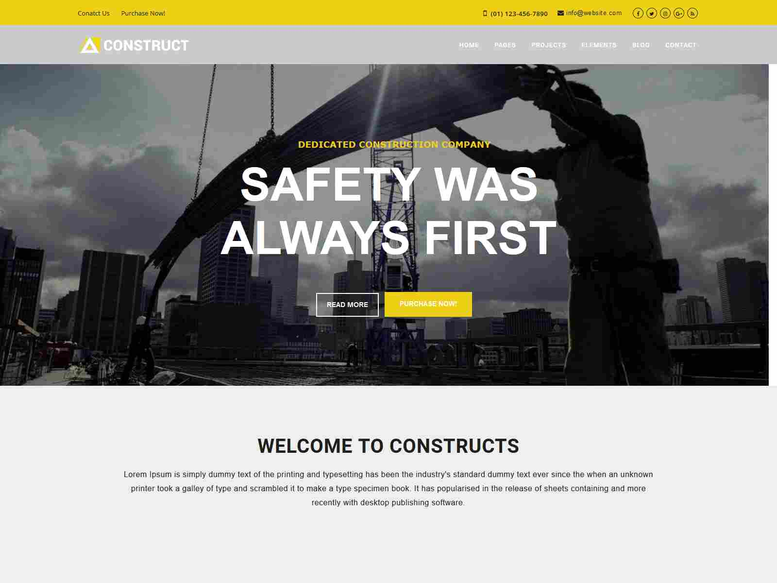 Construct - The Building Company Drupal 8.8 Theme