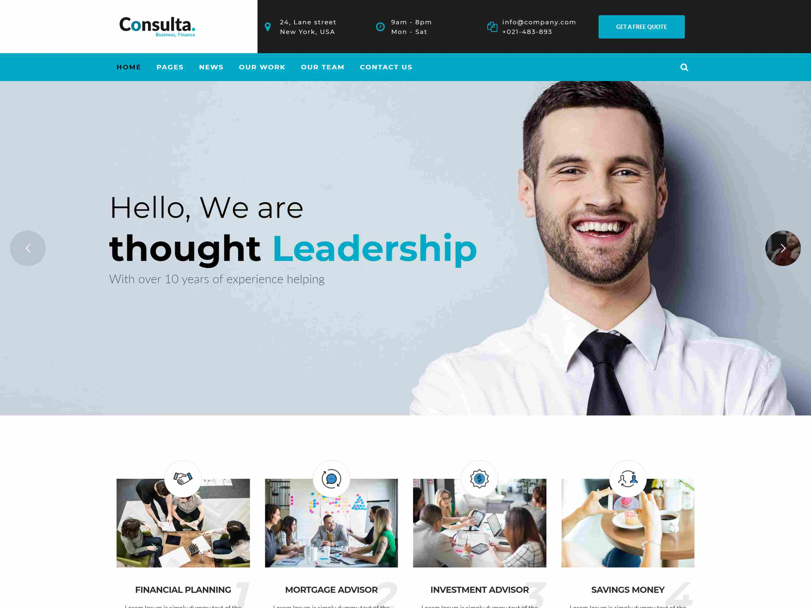 Consulta - Professional Business, Financial Drupal 8 Theme