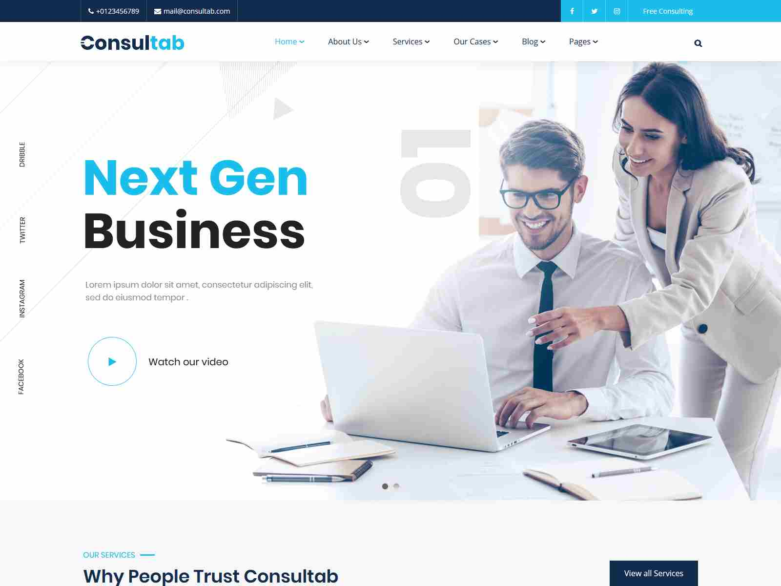 Consultab - Consulting Business & Finance WordPress Theme Insurance Company WordPress Themes