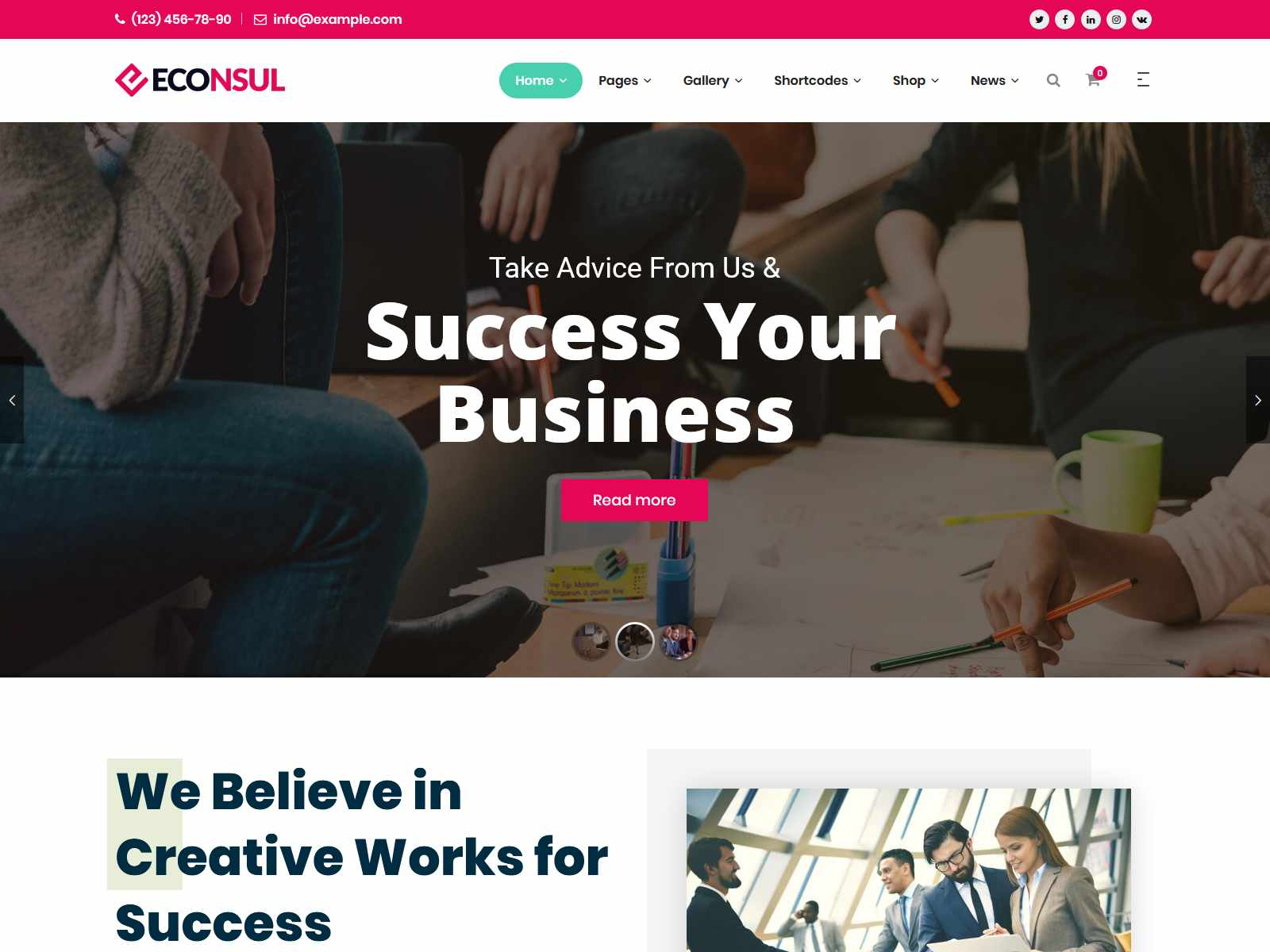Consulting Finance Insurance Company WordPress Themes
