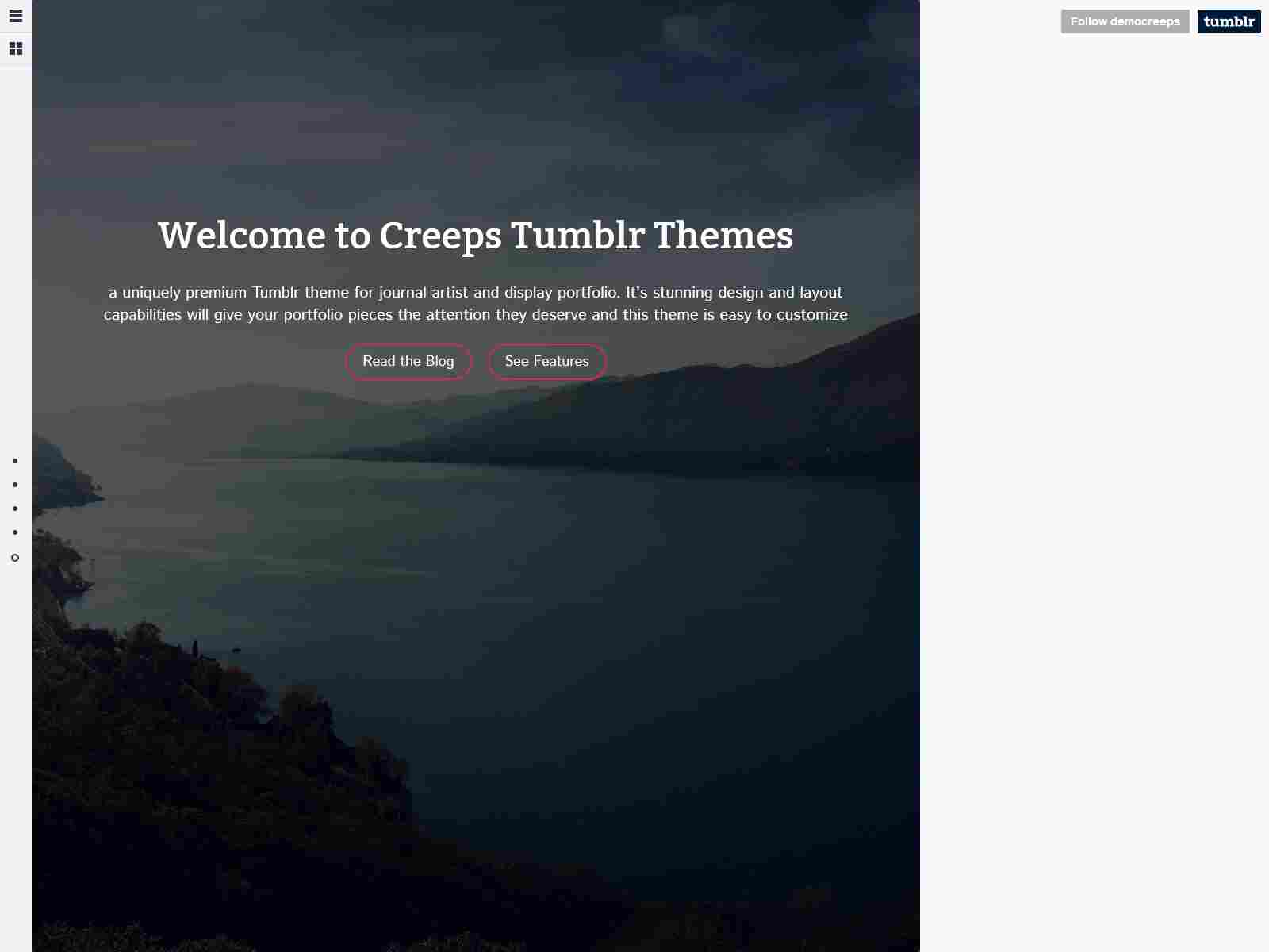 CREEPS - Responsive Tumblr Theme