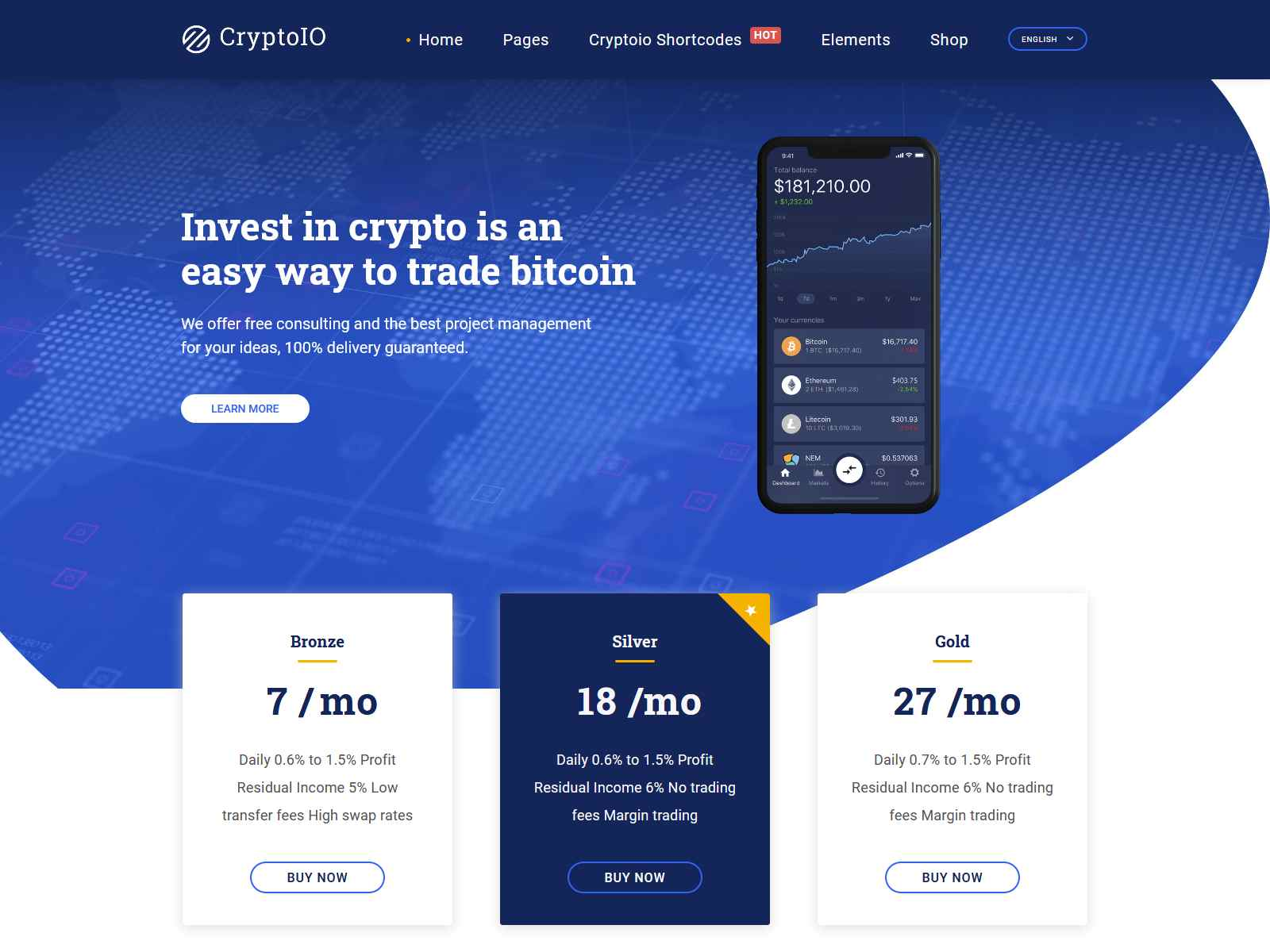 Best Premium Crypto, Bitcoins WordPress Themes