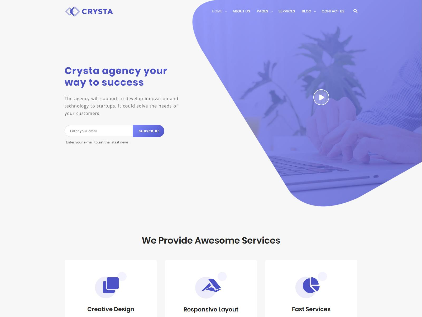 Crysta - Startup Agency and SasS Business WP Theme Startup WordPress Themes