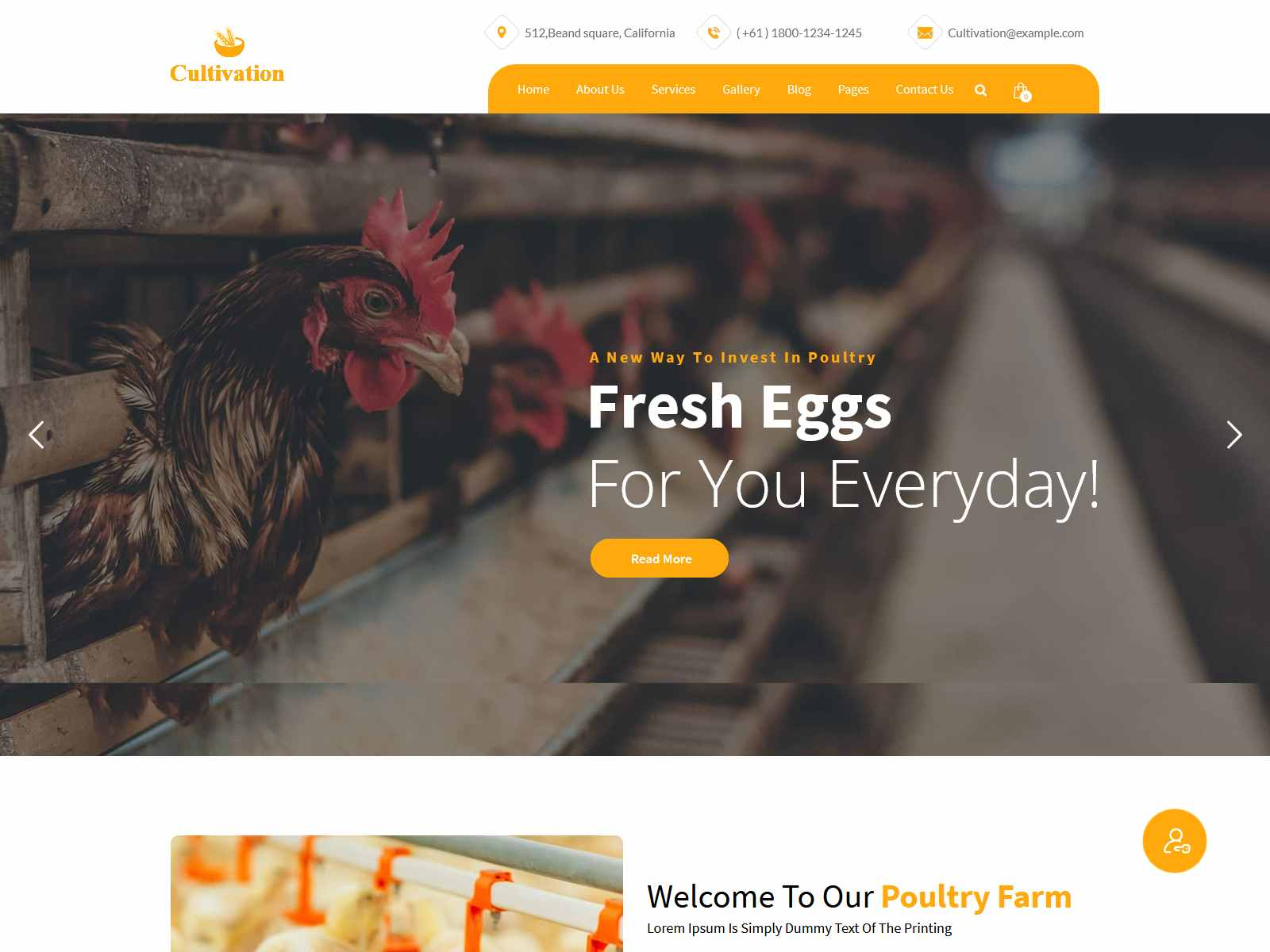 Cultivation - Organic Food Farming WordPress Theme