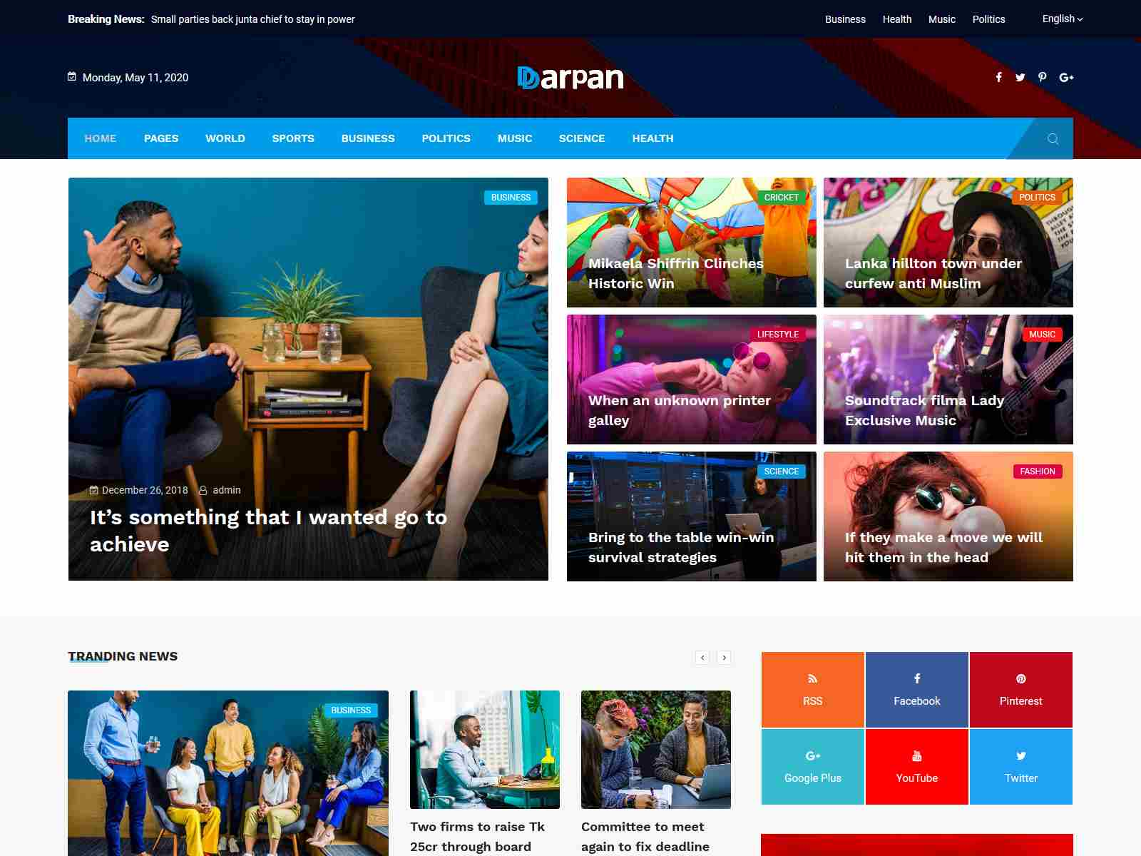 Darpan - News Magazine WordPress Theme wordpress news themes