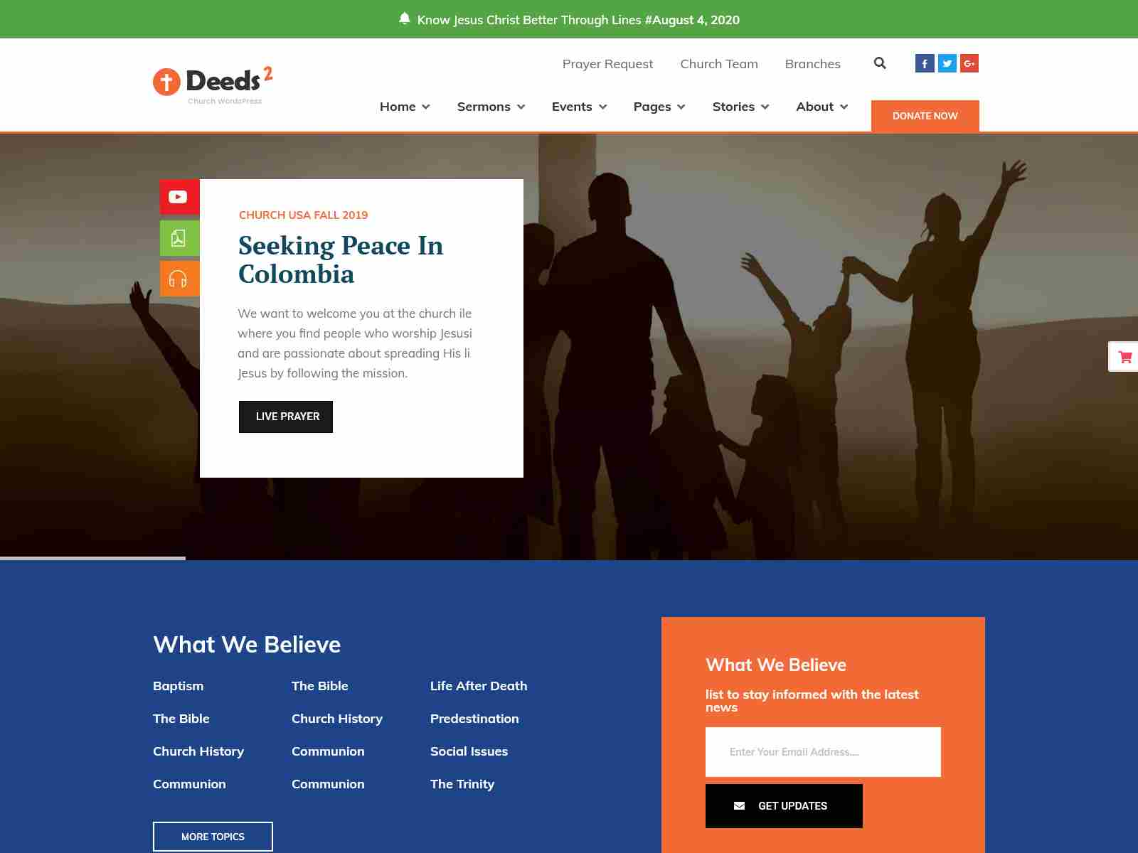 Deeds2 - Religion and Church WordPress Theme