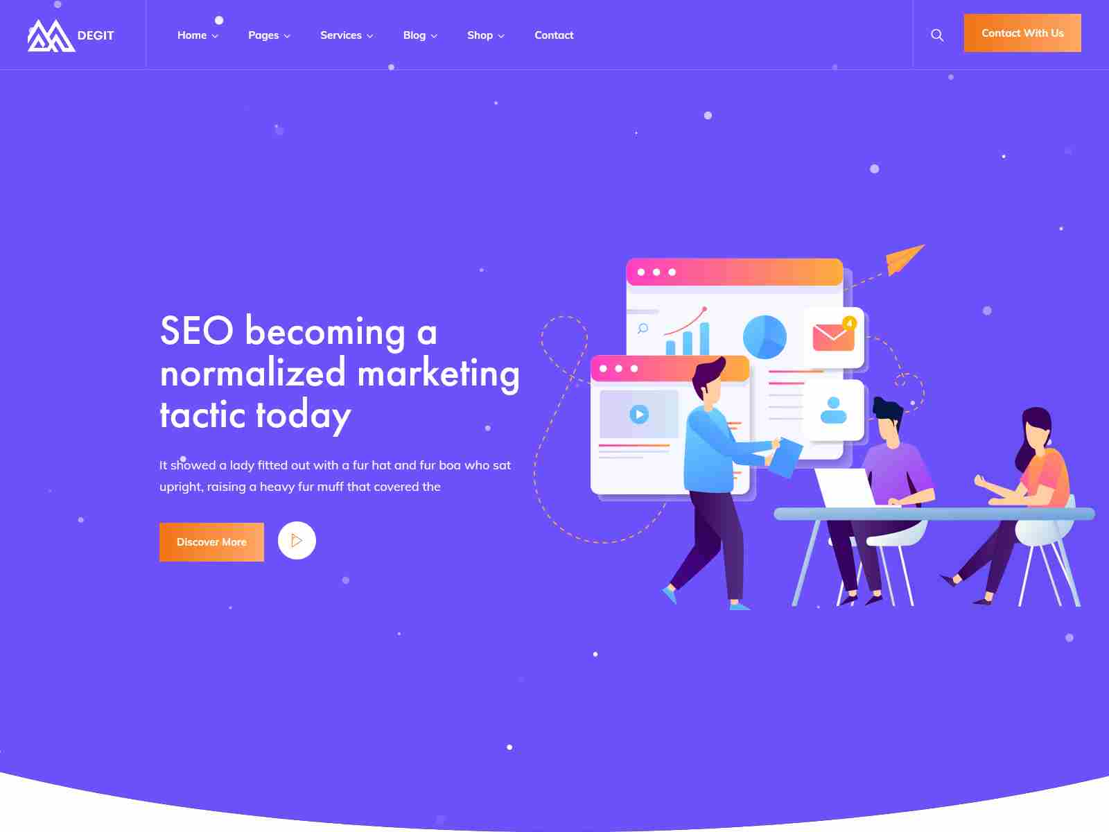 Degit - SEO Digital Marketing WordPress Theme
