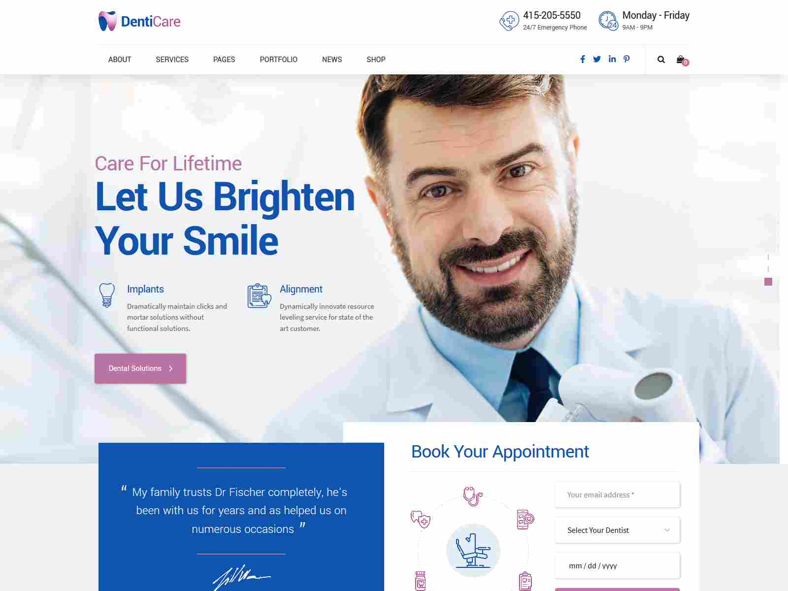 DentiCare - WordPress Theme for Dentist & Dental Clinic