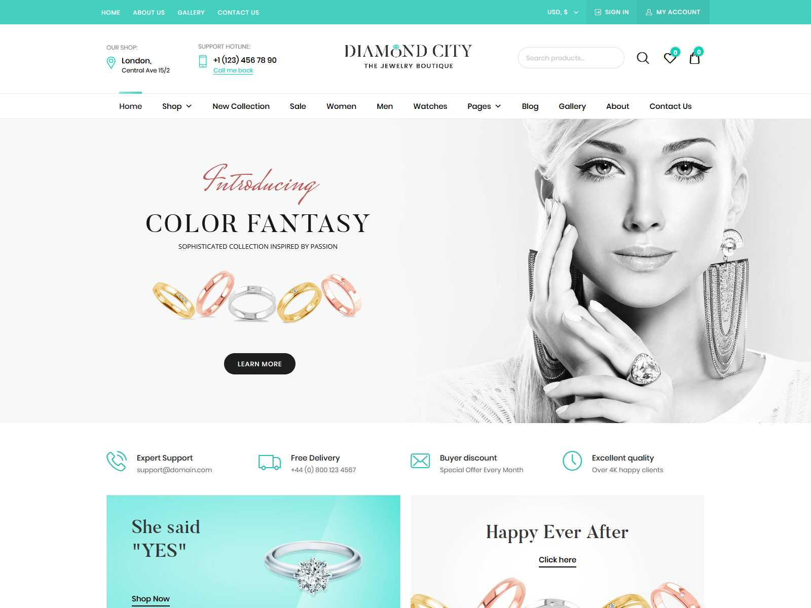 DiCi - Jewelry Shop WordPress Theme