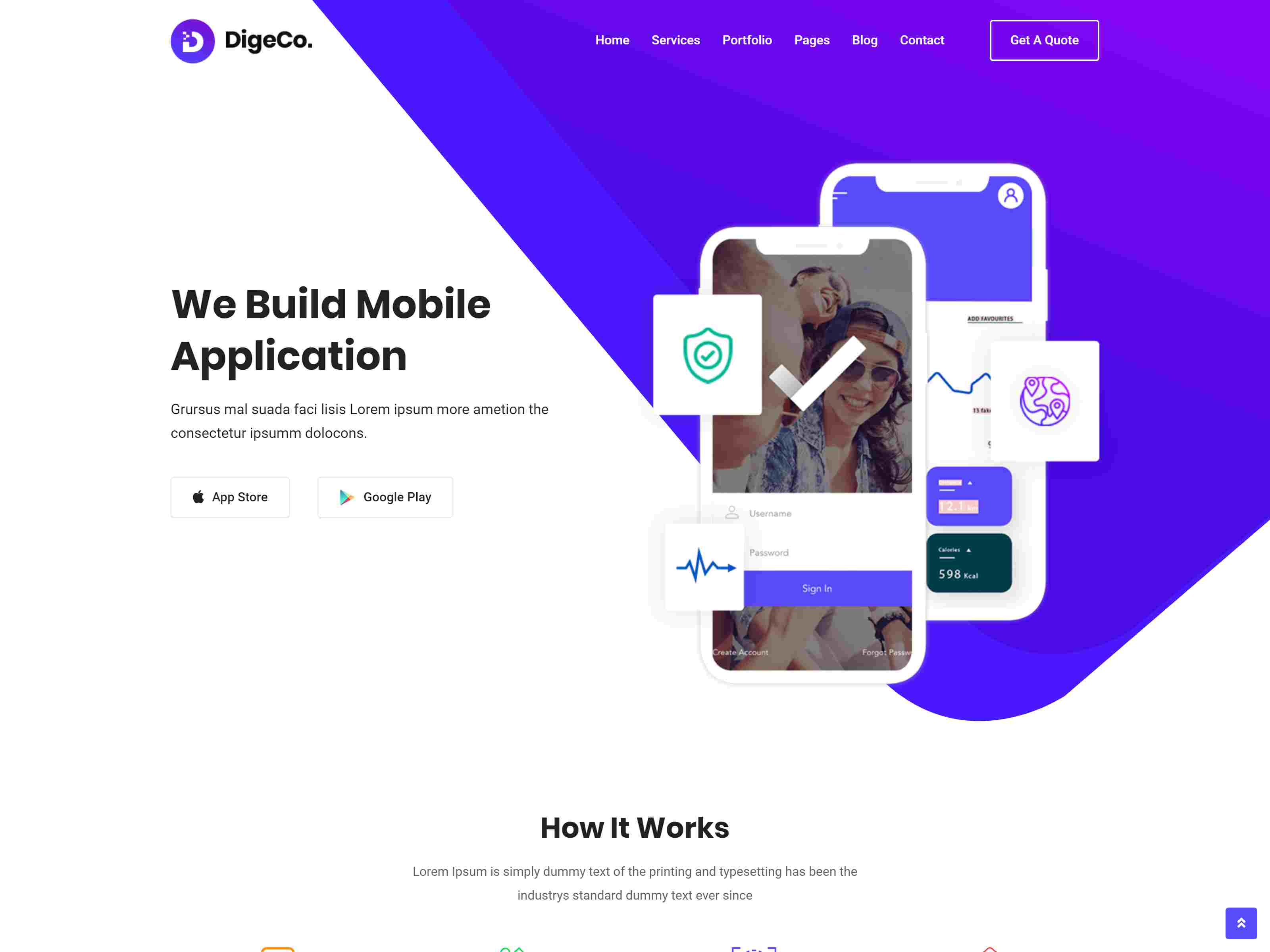 Digeco – Startup Agency WordPress Theme software themes, mobile app wordpress themes