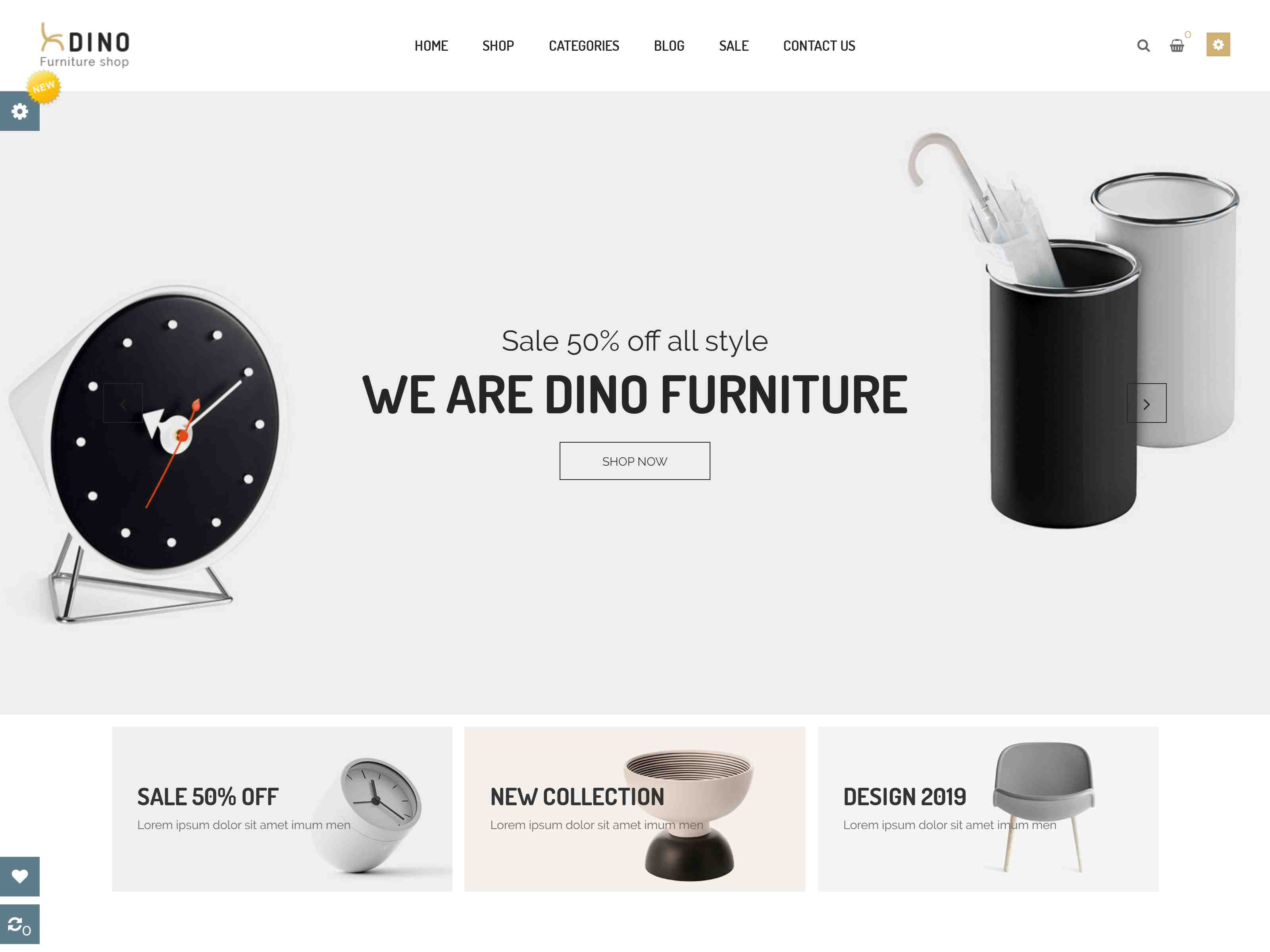 Dino - Luxury Furniture Shop PrestaShop 1.7 Theme