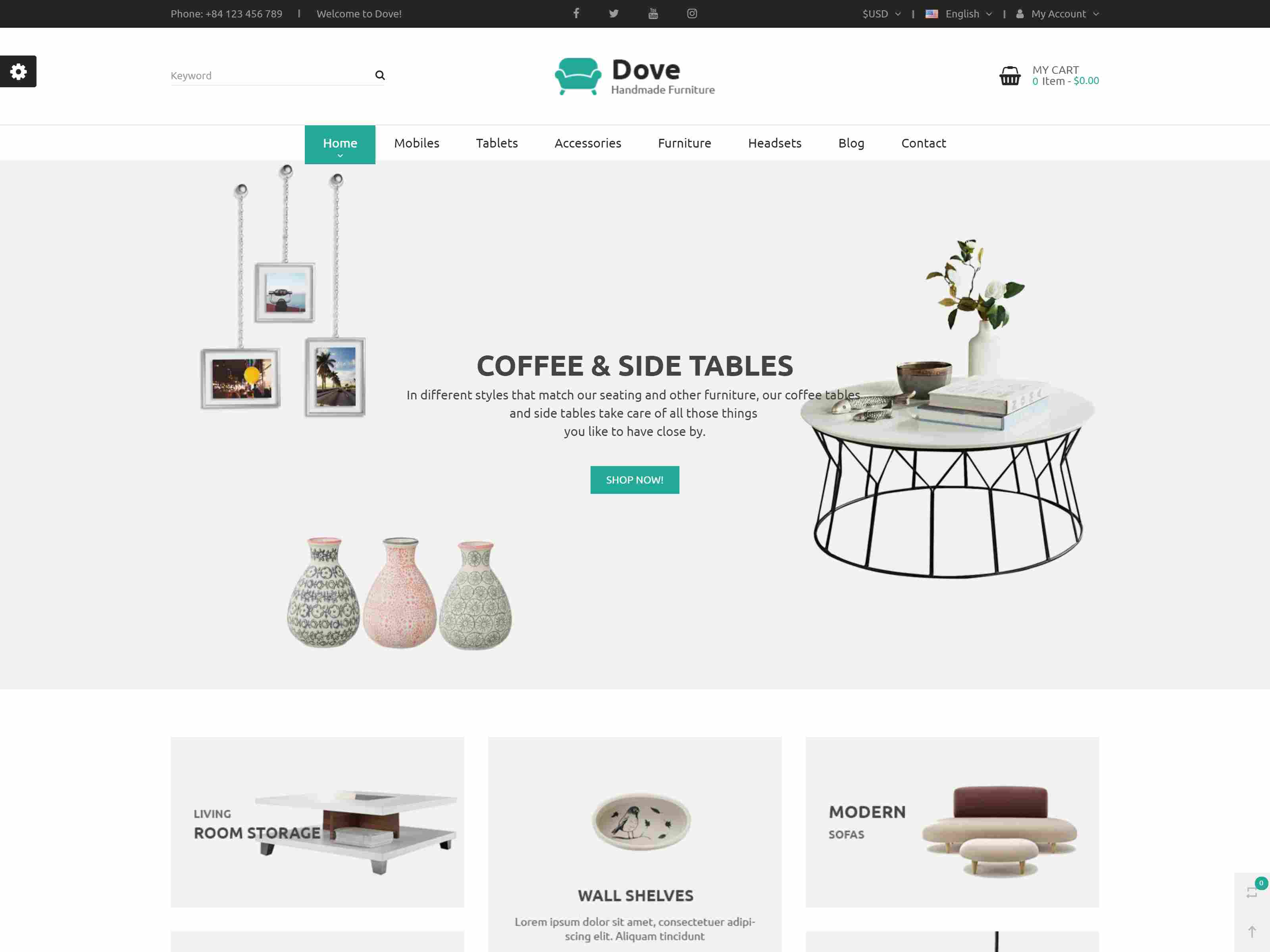 Dove - Multipurpose Prestashop 1.7 Theme Demo Furniture