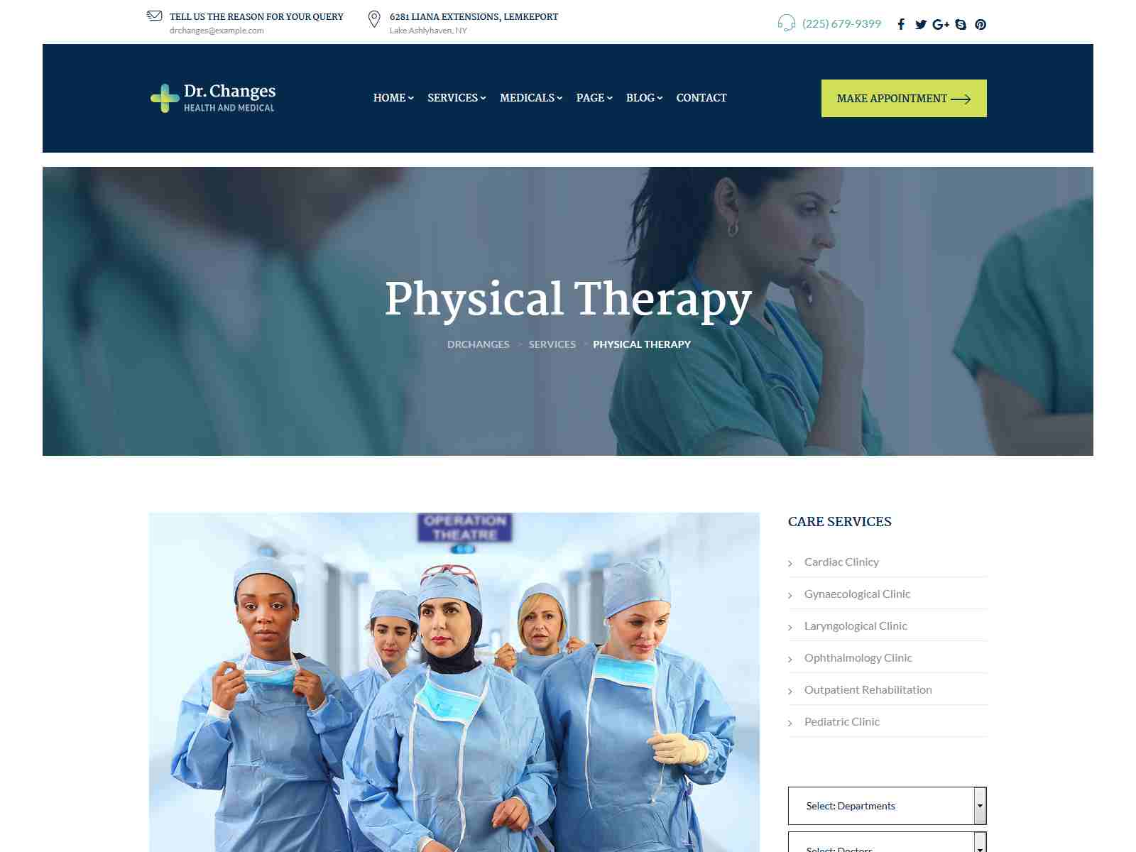 Dr.Changes - Doctor & Medical Clinic WordPress Theme