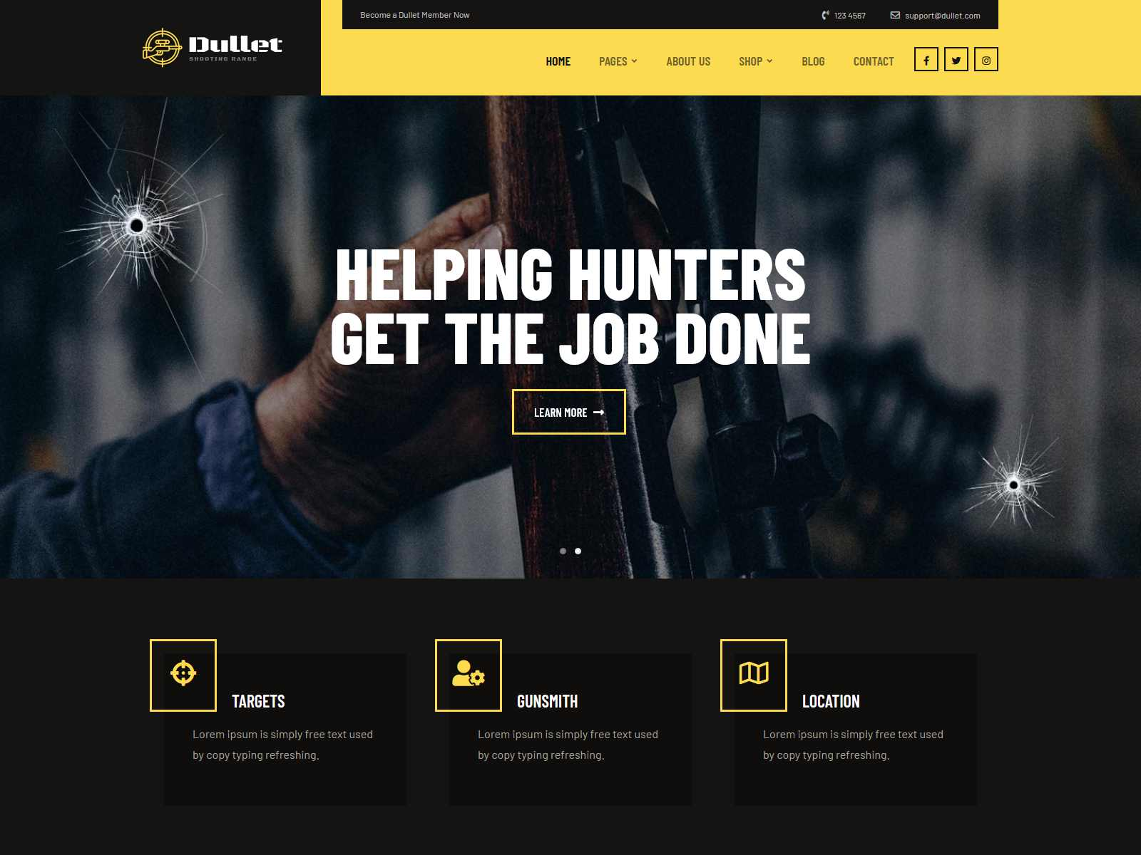 Best Premium Shooting Range WordPress Themes