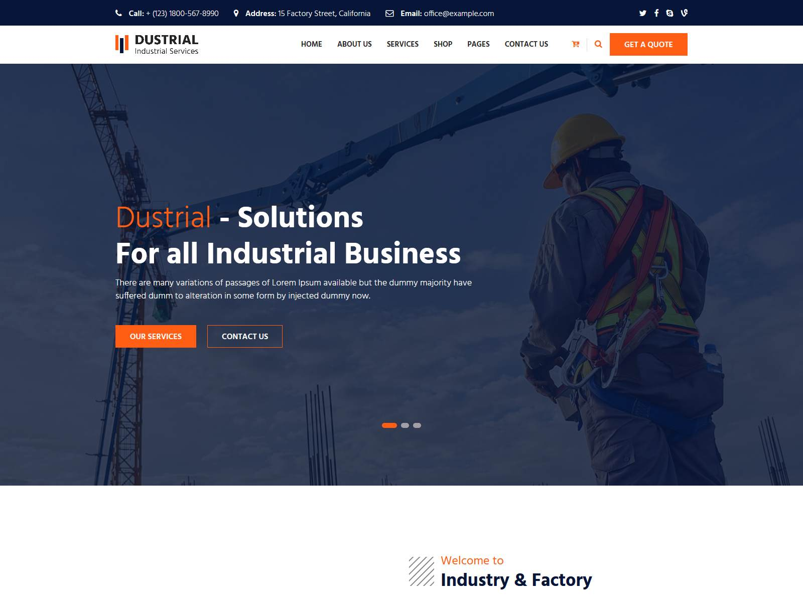 Best Premium Heavy Machinary WordPress Themes