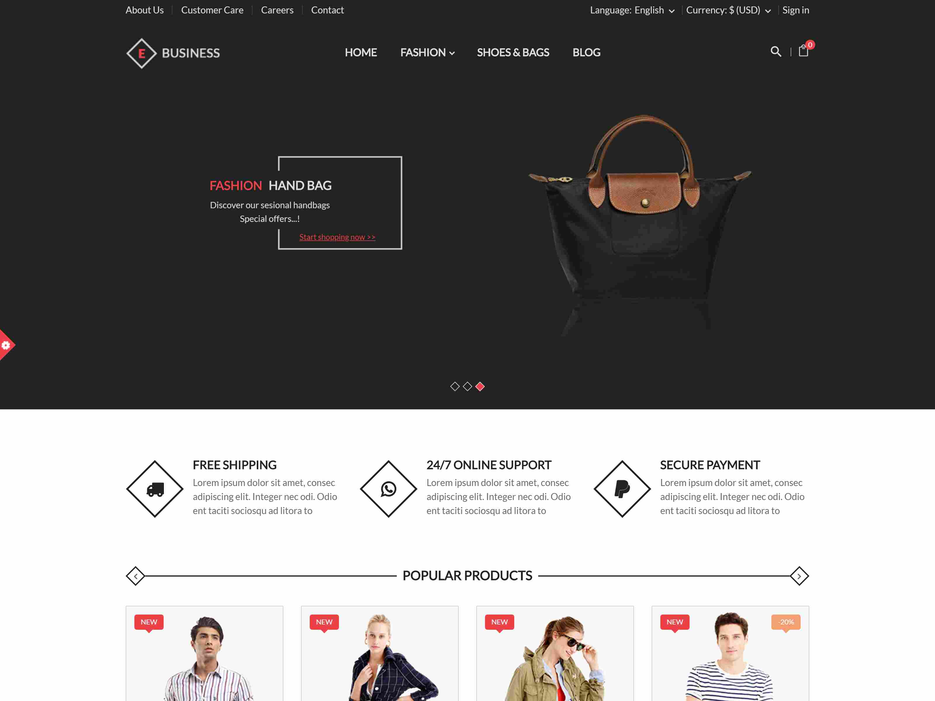 E-Business - All in one package Prestashop theme