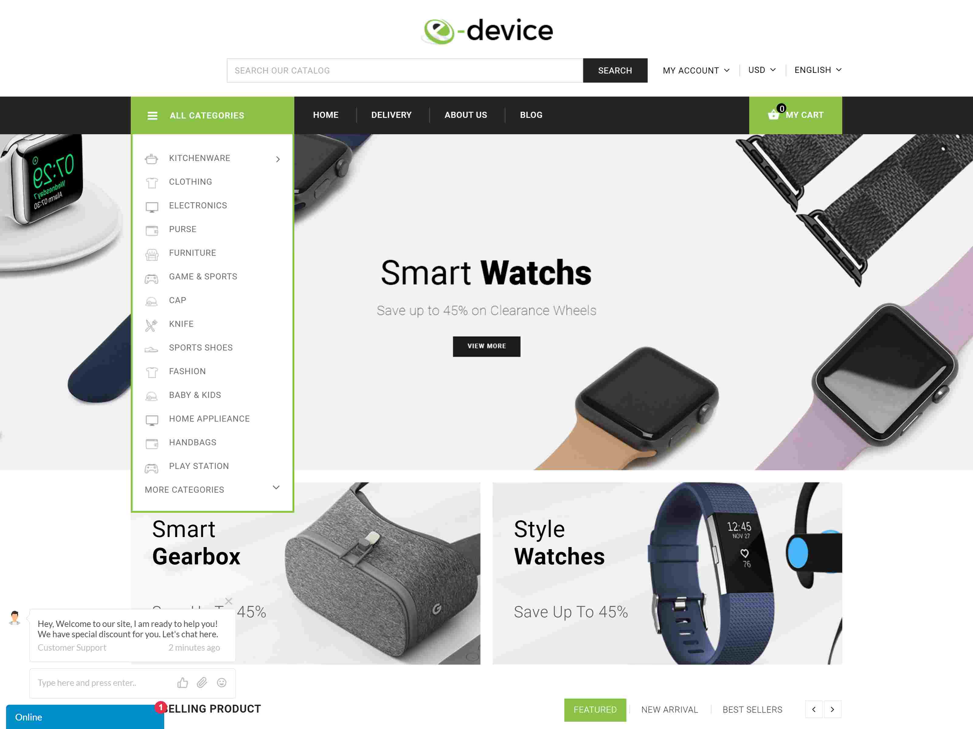 eDevice - Multipurpose Prestashop 1.7 Responsive Theme