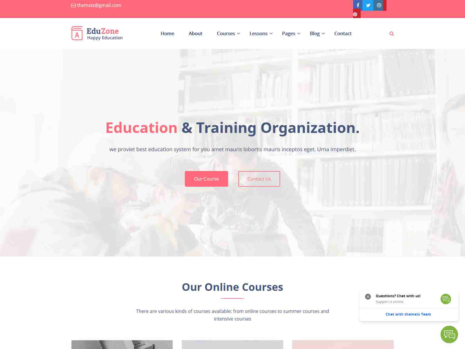 Eduzone - Responsive Education Website Jekyll Theme