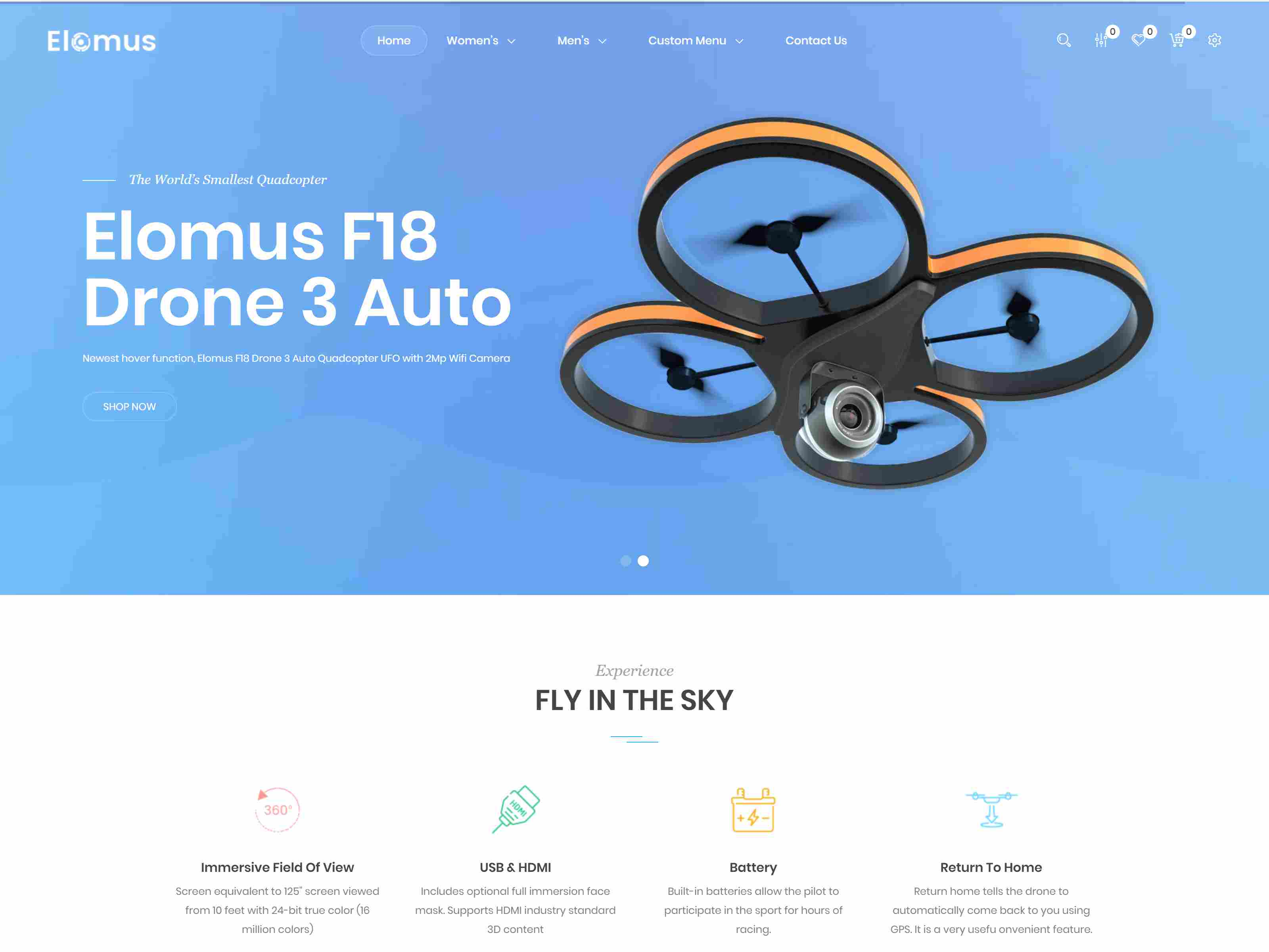 Elomus - Single Product Prestashop Theme