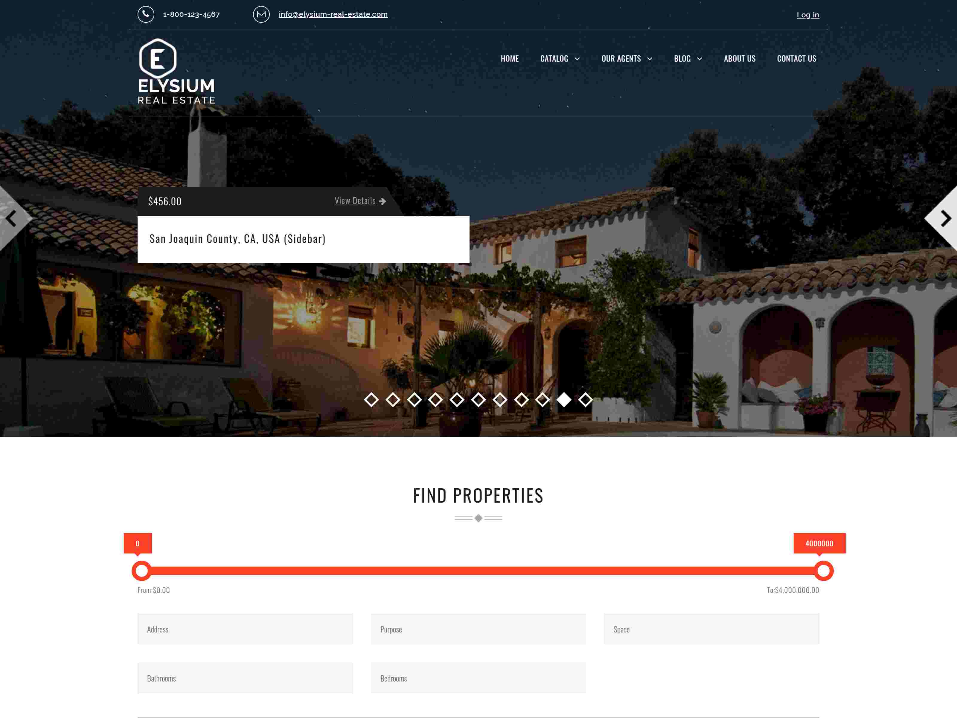 Elysium - Real Estate WordPress Theme real estate wordpress themes