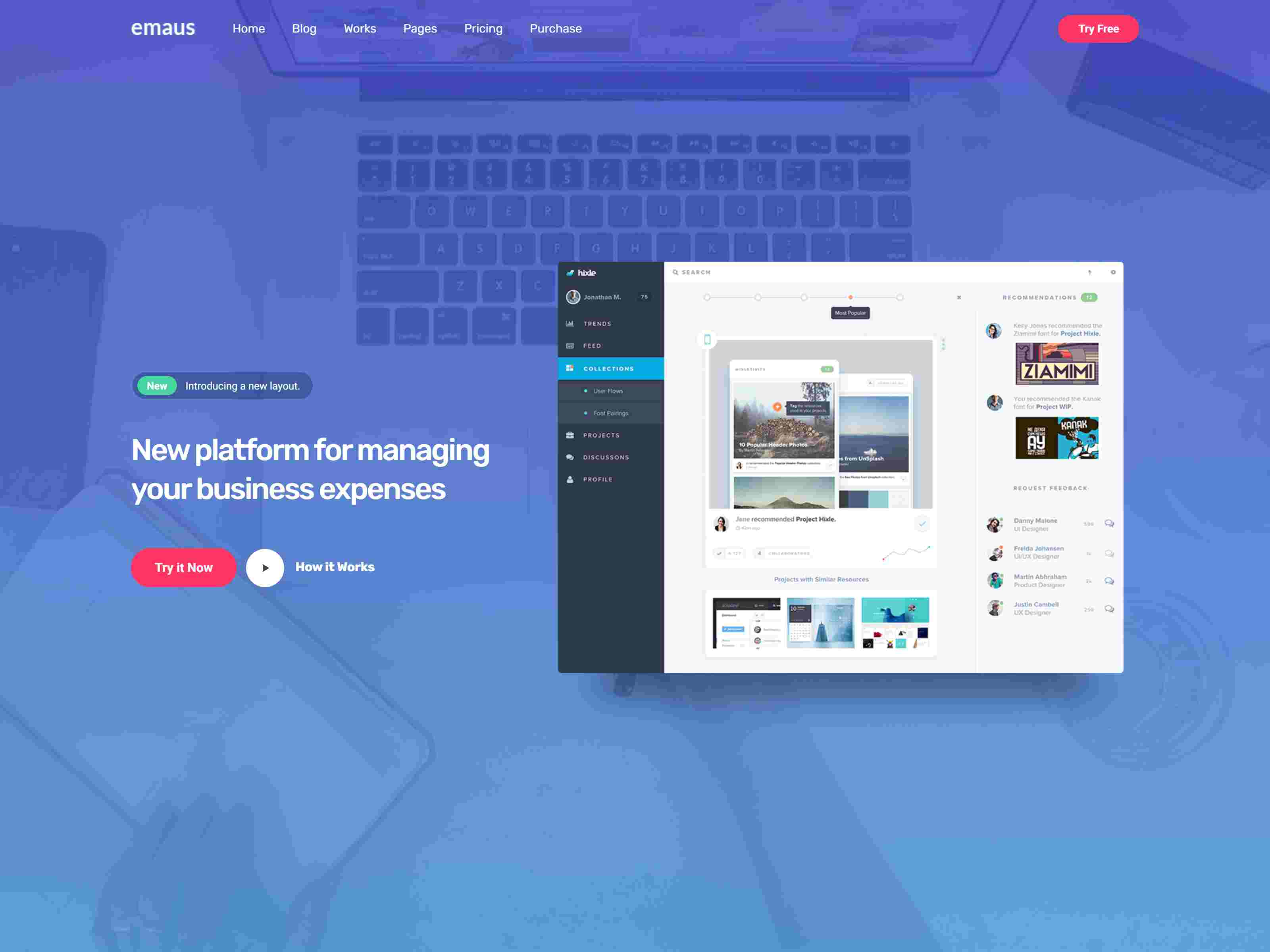Emaus | SaaS App and Startup Elementor WordPress Theme software themes, mobile app wordpress themes