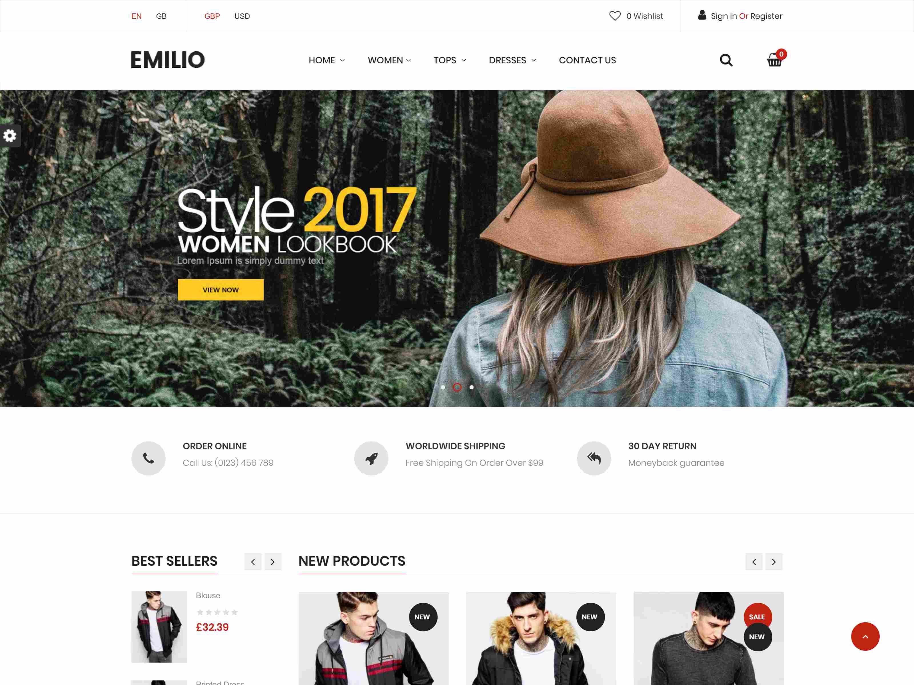 Emilio Responsive PrestaShop 1.6 & 1.7, Electronic ,Fashion, Shopping - Multi Store (6 Homes)