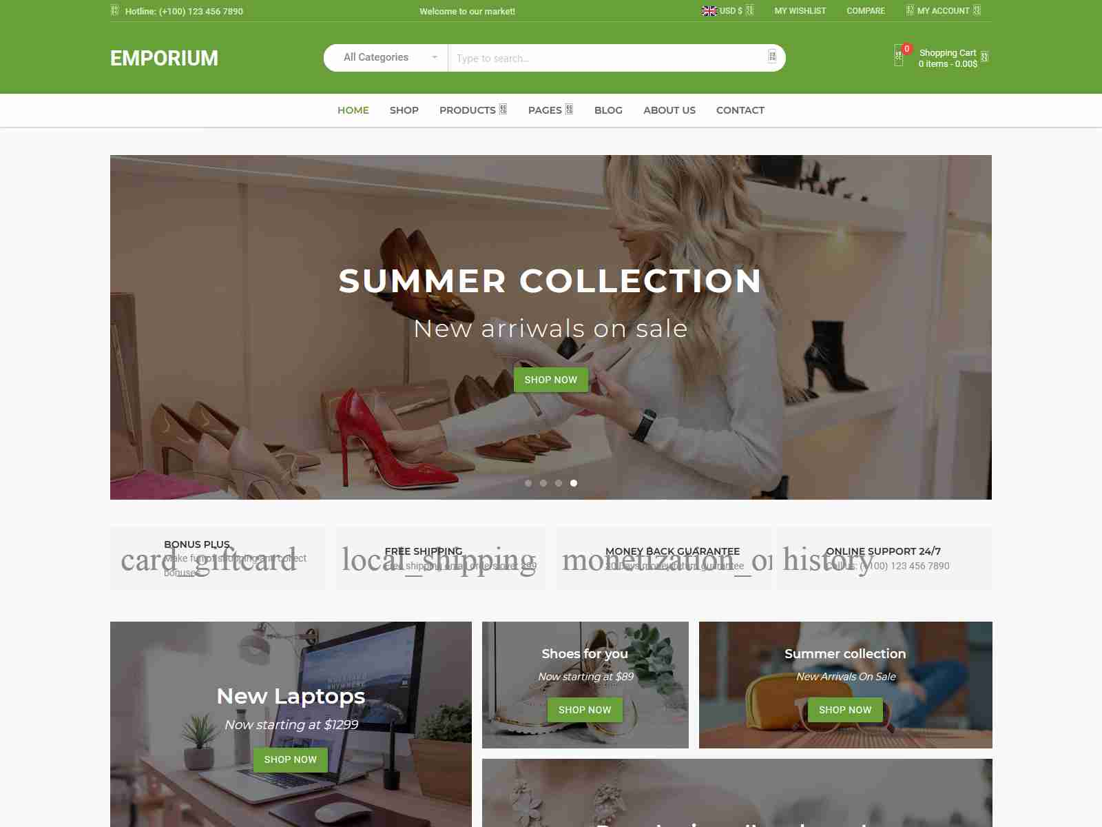 Emporium - Material Design eCommerce WordPress Theme fashion wordpress themes