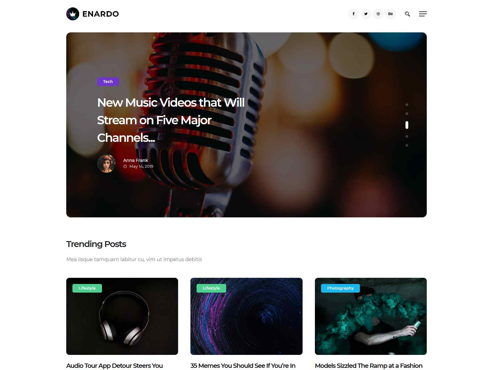 Enardo - Blog & Magazine WordPress Theme wordpress news themes