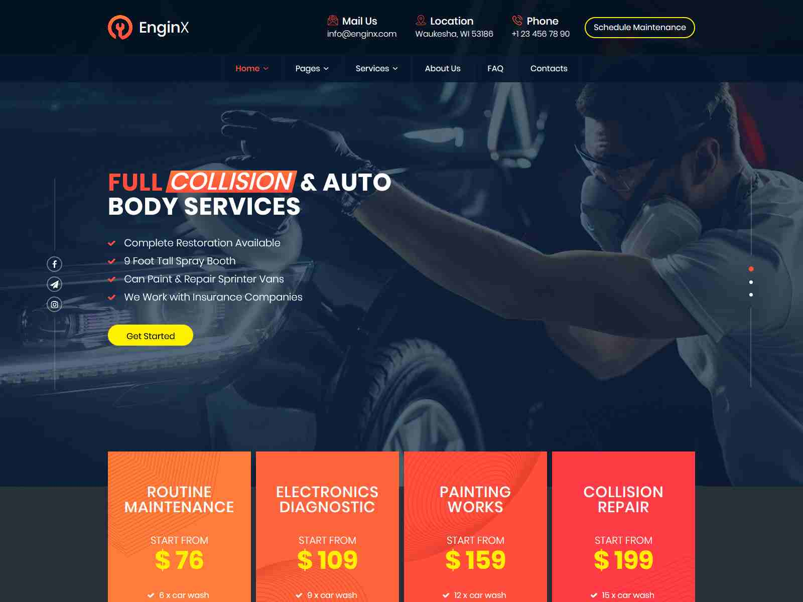 EnginX – Auto Repair Service WordPress Theme