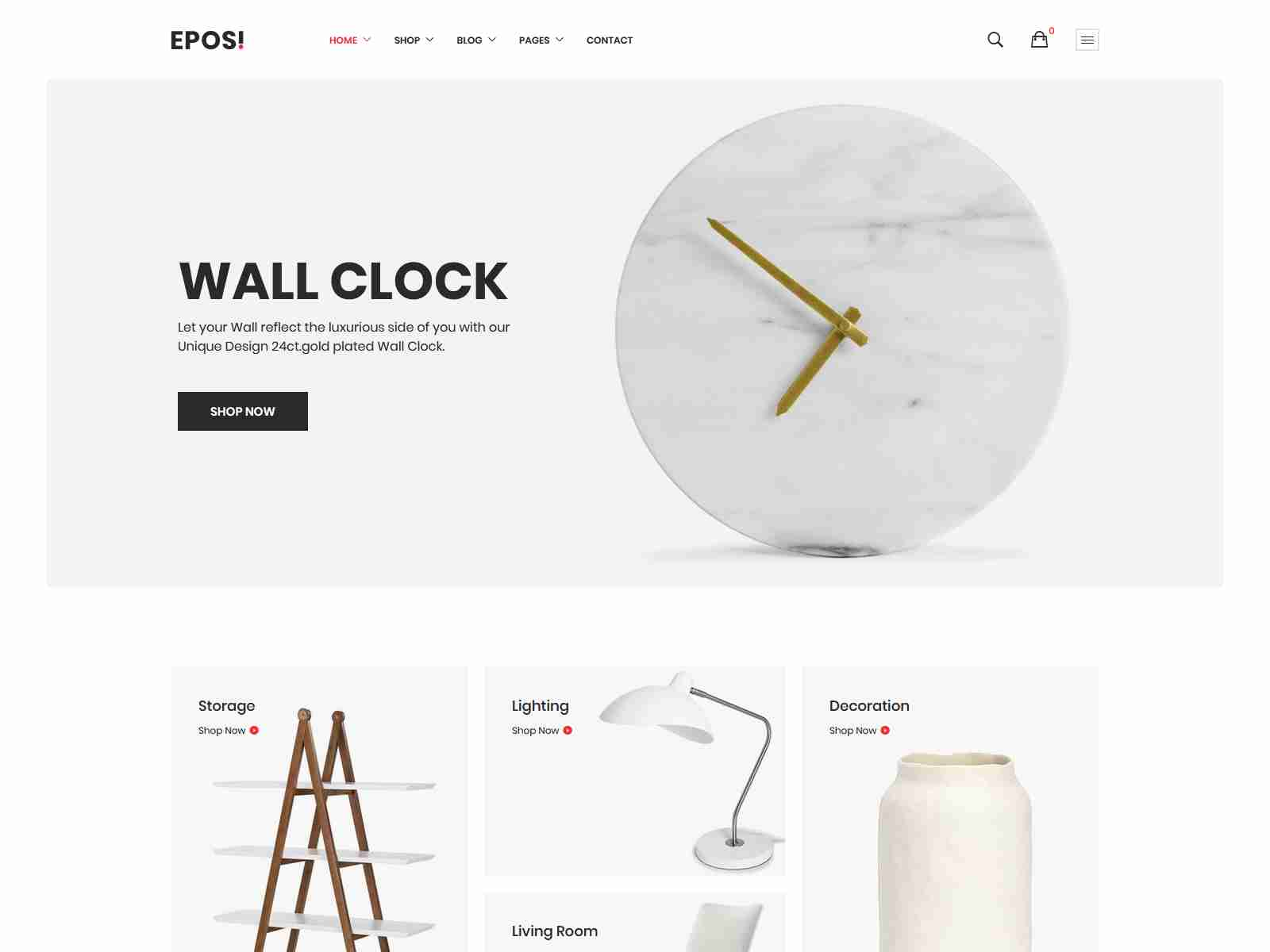 Eposi - Minimal Theme for WooCommerce WordPress