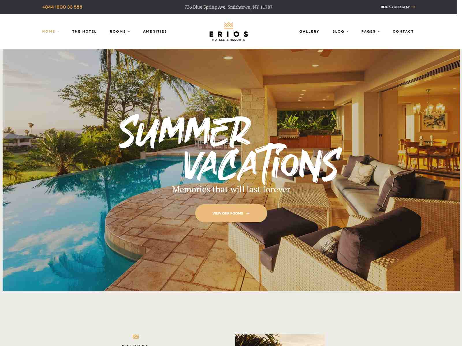 Erios - Resort & Hotel WordPress Theme