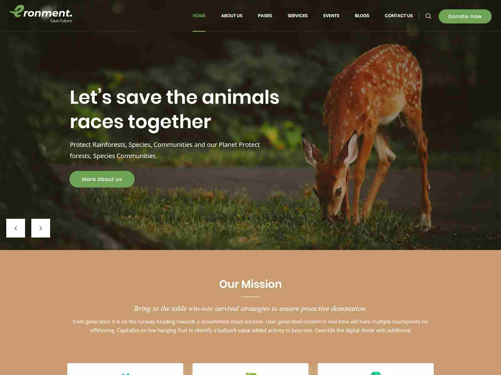 Eronment - Environmental WordPress theme fundraising WordPress theme
