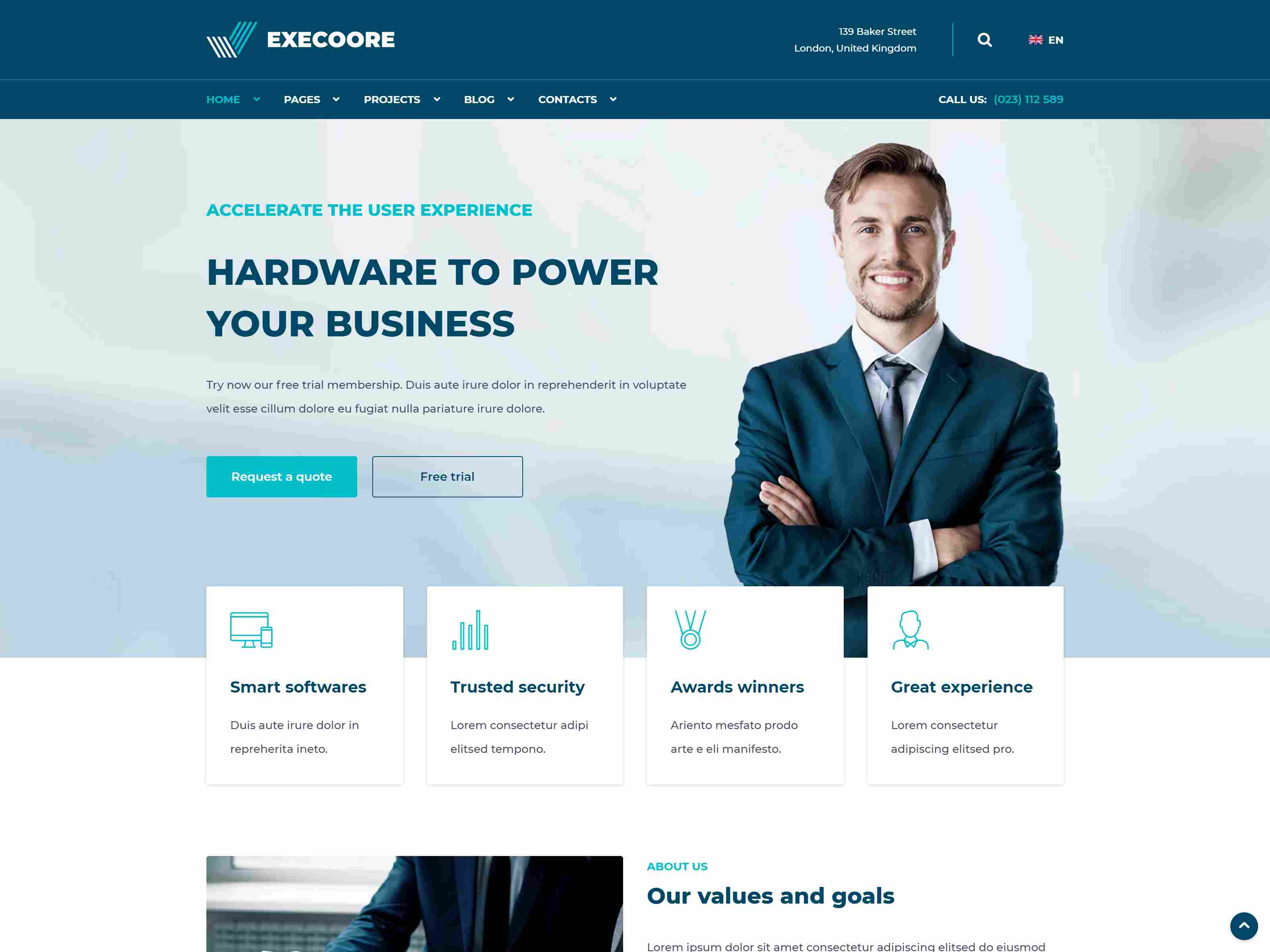 Execoore - Technology And Fintech Drupal 8 Theme