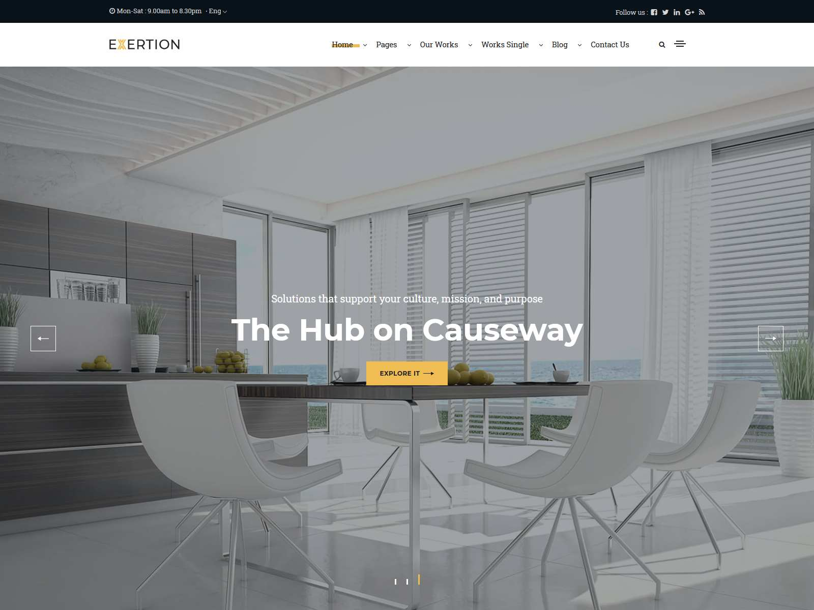 Exertion - Architecture & Interior Design WordPress Theme