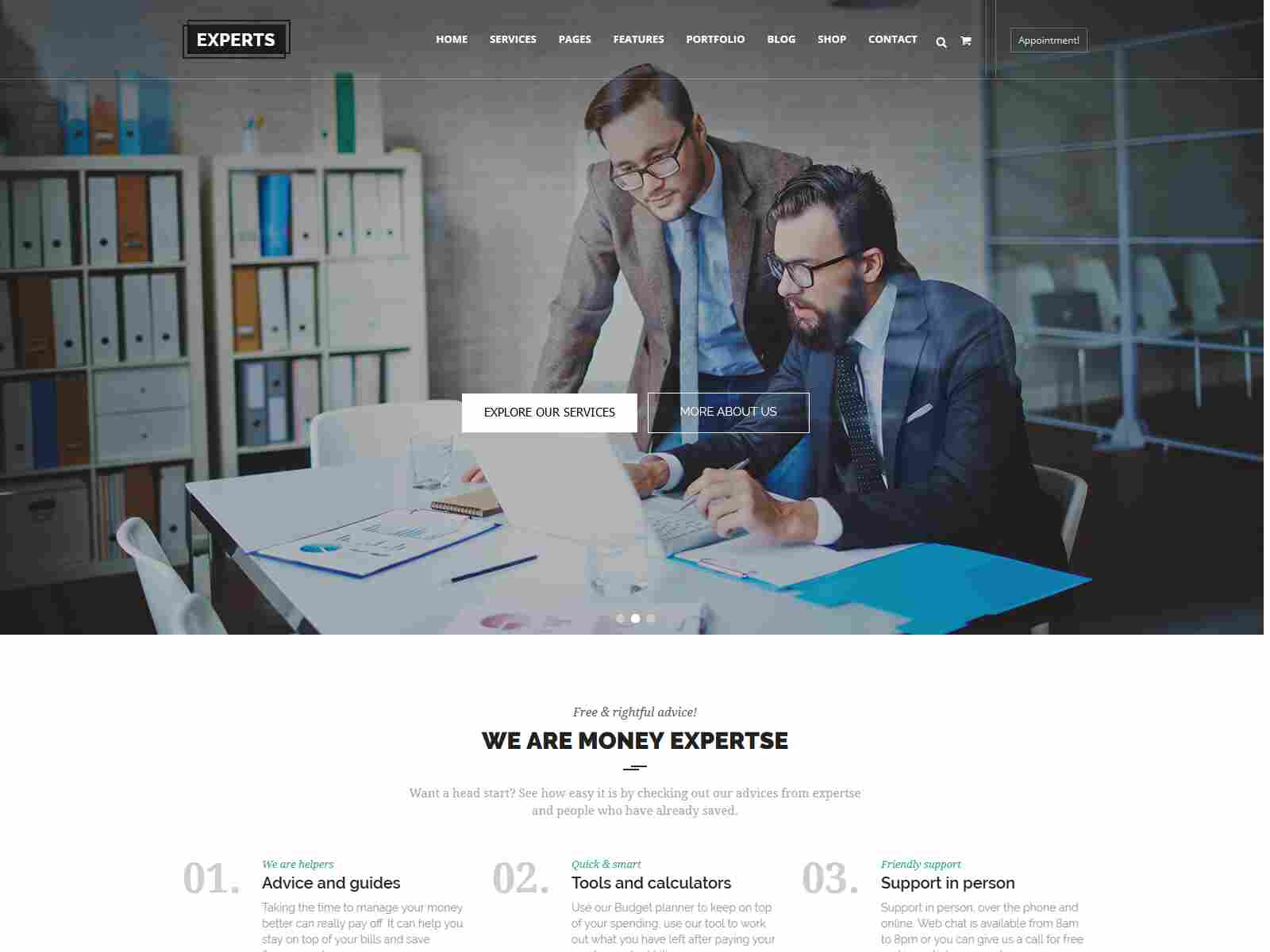 Experts Business - Multipurpose Corporate & Finance Drupal 8.8 Theme